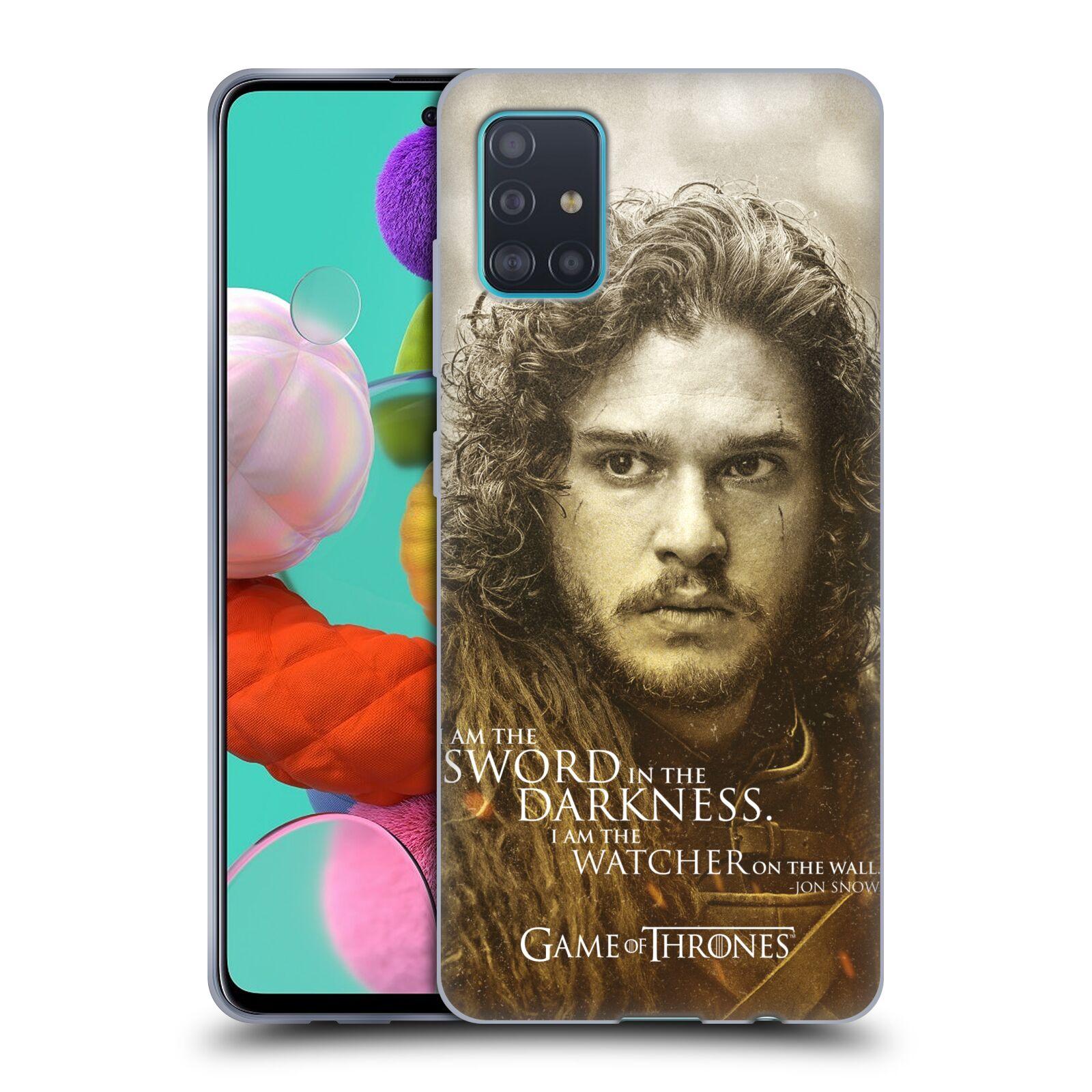 Silikonové pouzdro na mobil Samsung Galaxy A51 - Head Case - Hra o trůny - Jon Snow