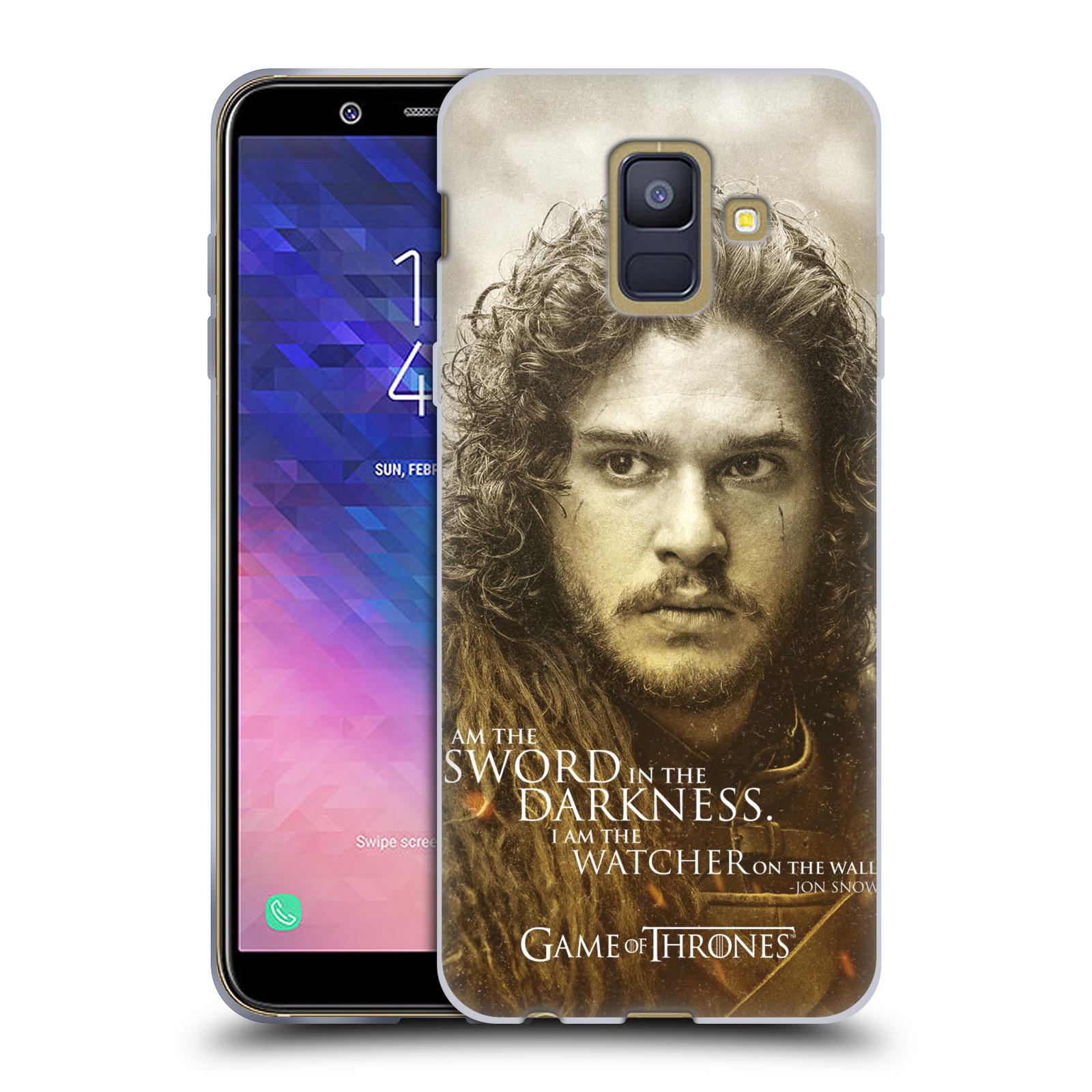 Silikonové pouzdro na mobil Samsung Galaxy A6 (2018) - Head Case - Hra o trůny - Jon Snow