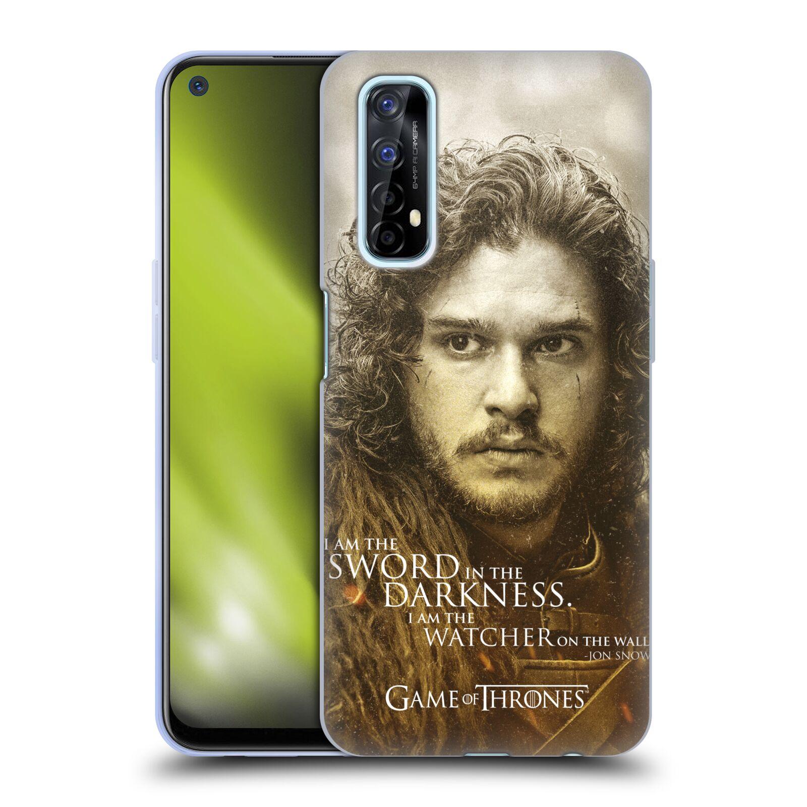 Silikonové pouzdro na mobil Realme 7 - Head Case - Hra o trůny - Jon Snow