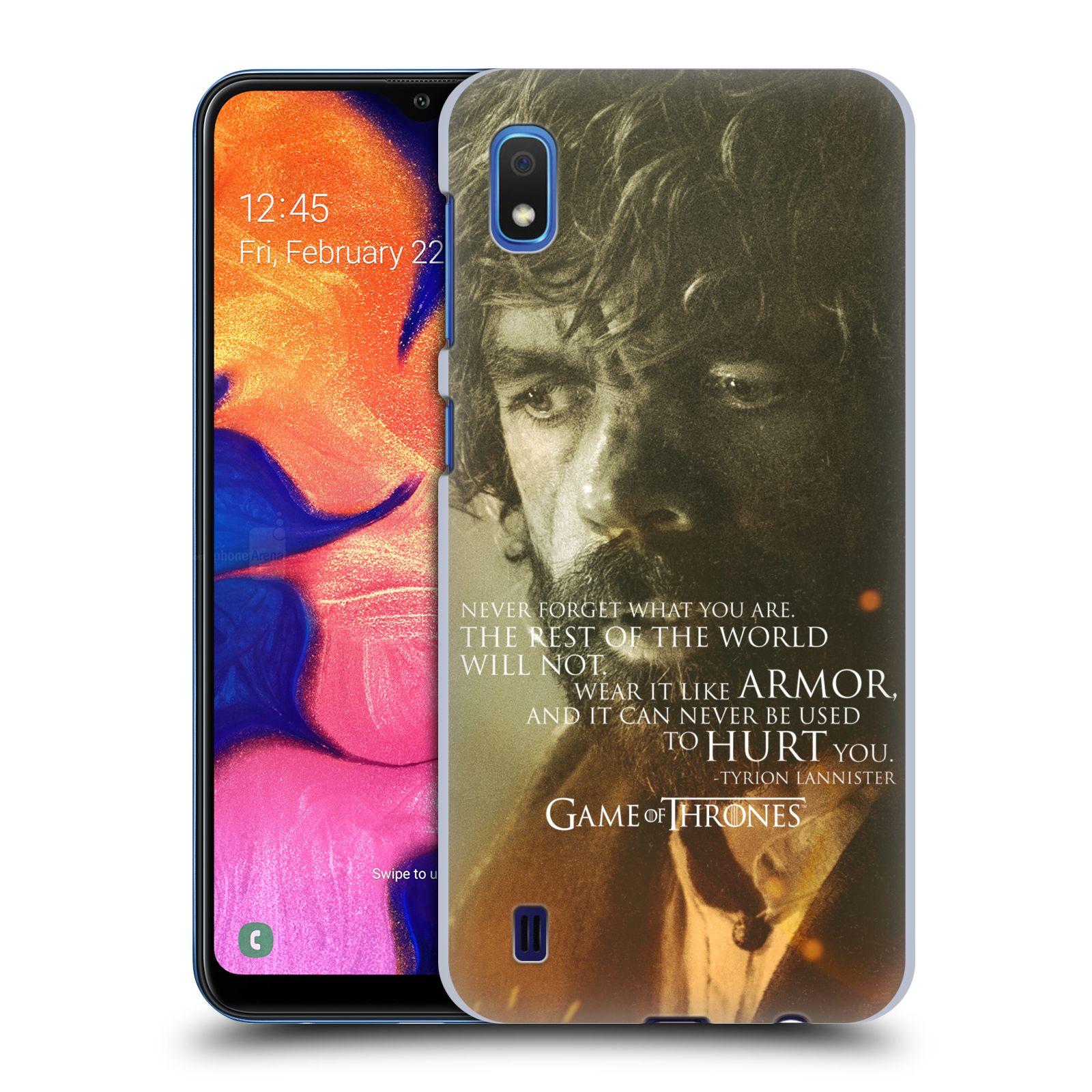 Plastové pouzdro na mobil Samsung Galaxy A10 - Head Case - Hra o trůny - Tyrion Lannister