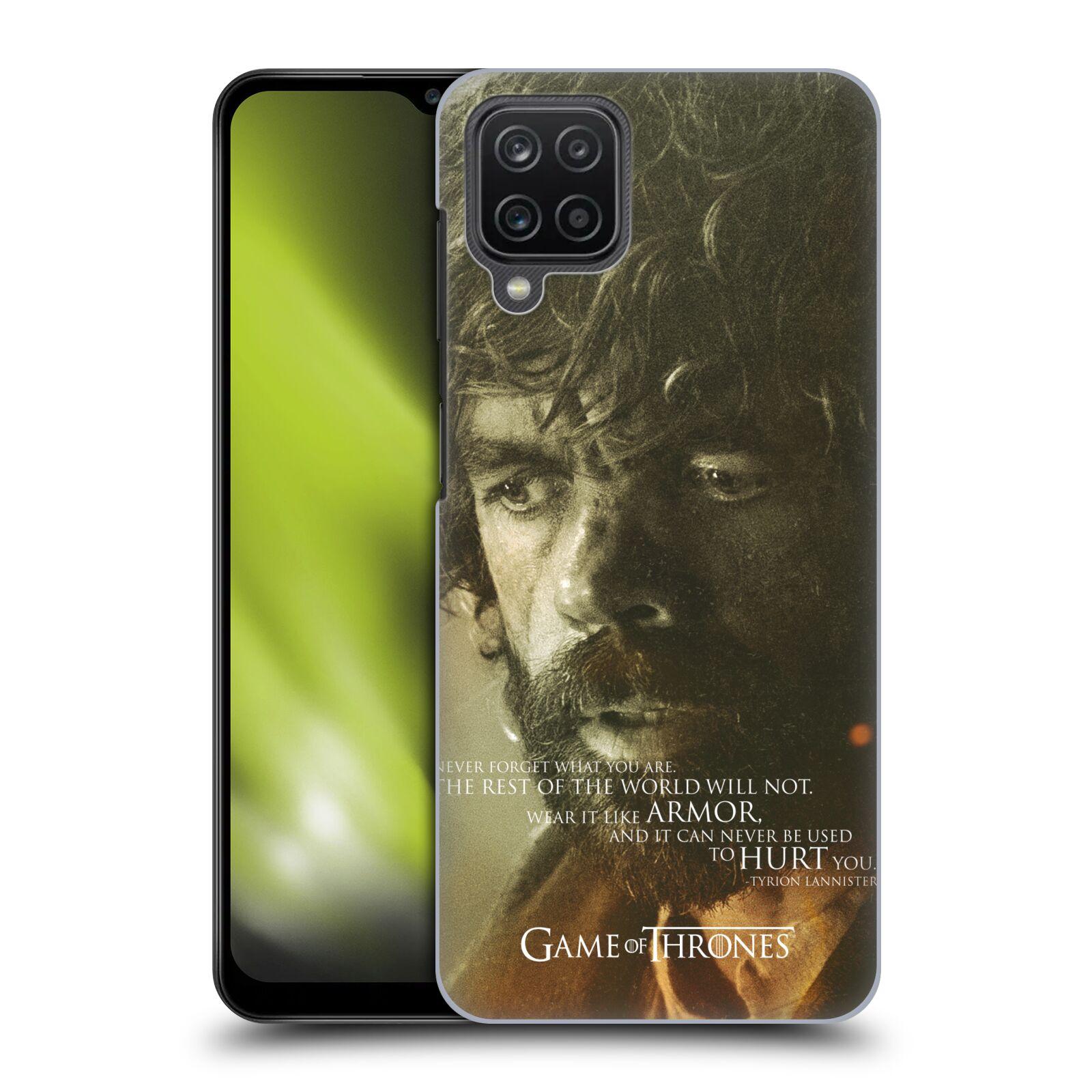 Plastové pouzdro na mobil Samsung Galaxy A12 - Head Case - Hra o trůny - Tyrion Lannister