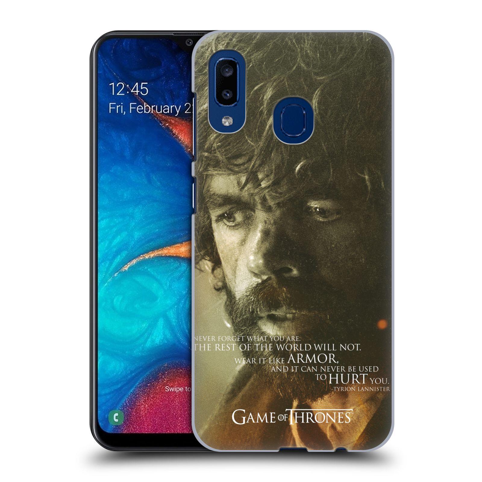 Plastové pouzdro na mobil Samsung Galaxy A20 - Head Case - Hra o trůny - Tyrion Lannister