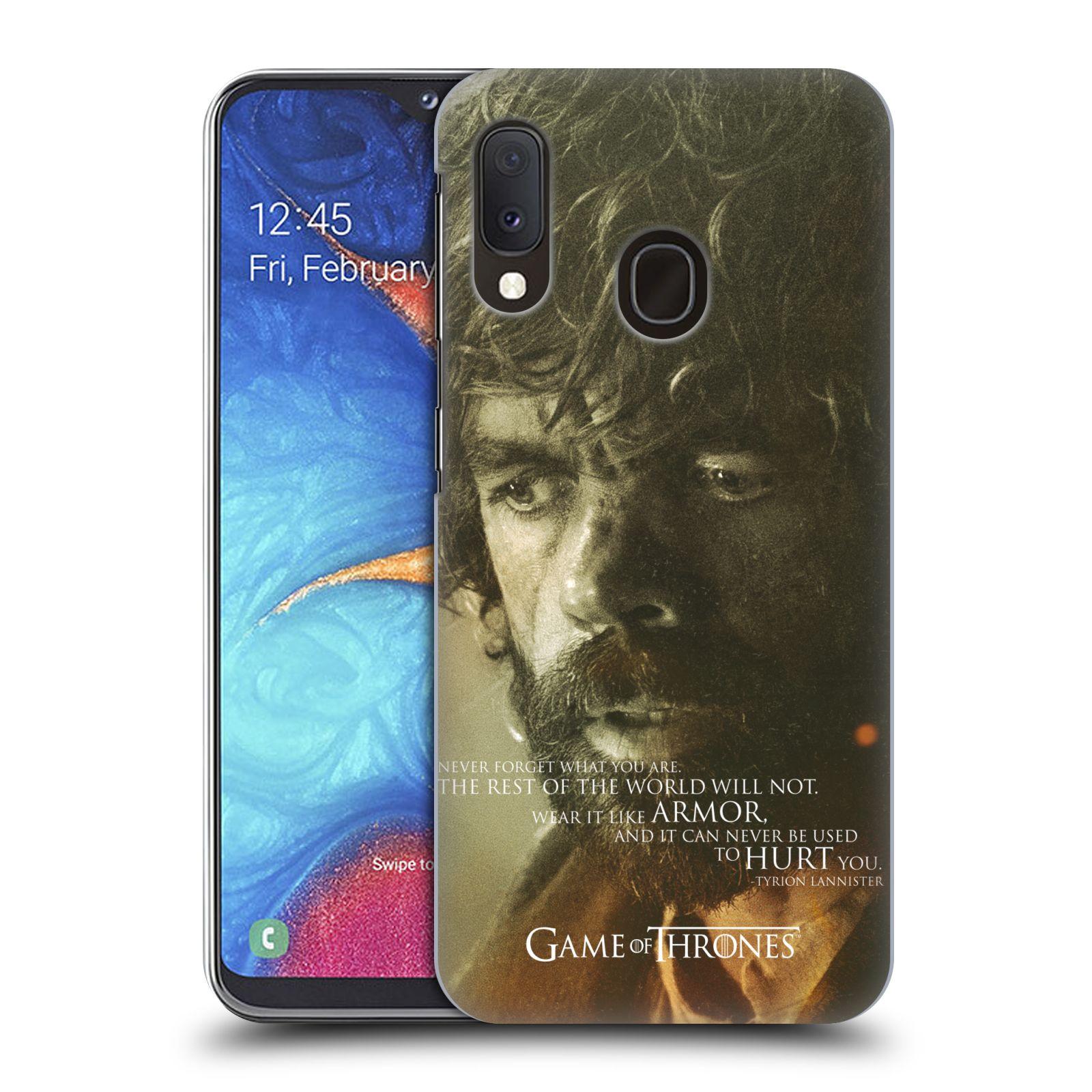 Plastové pouzdro na mobil Samsung Galaxy A20e - Head Case - Hra o trůny - Tyrion Lannister