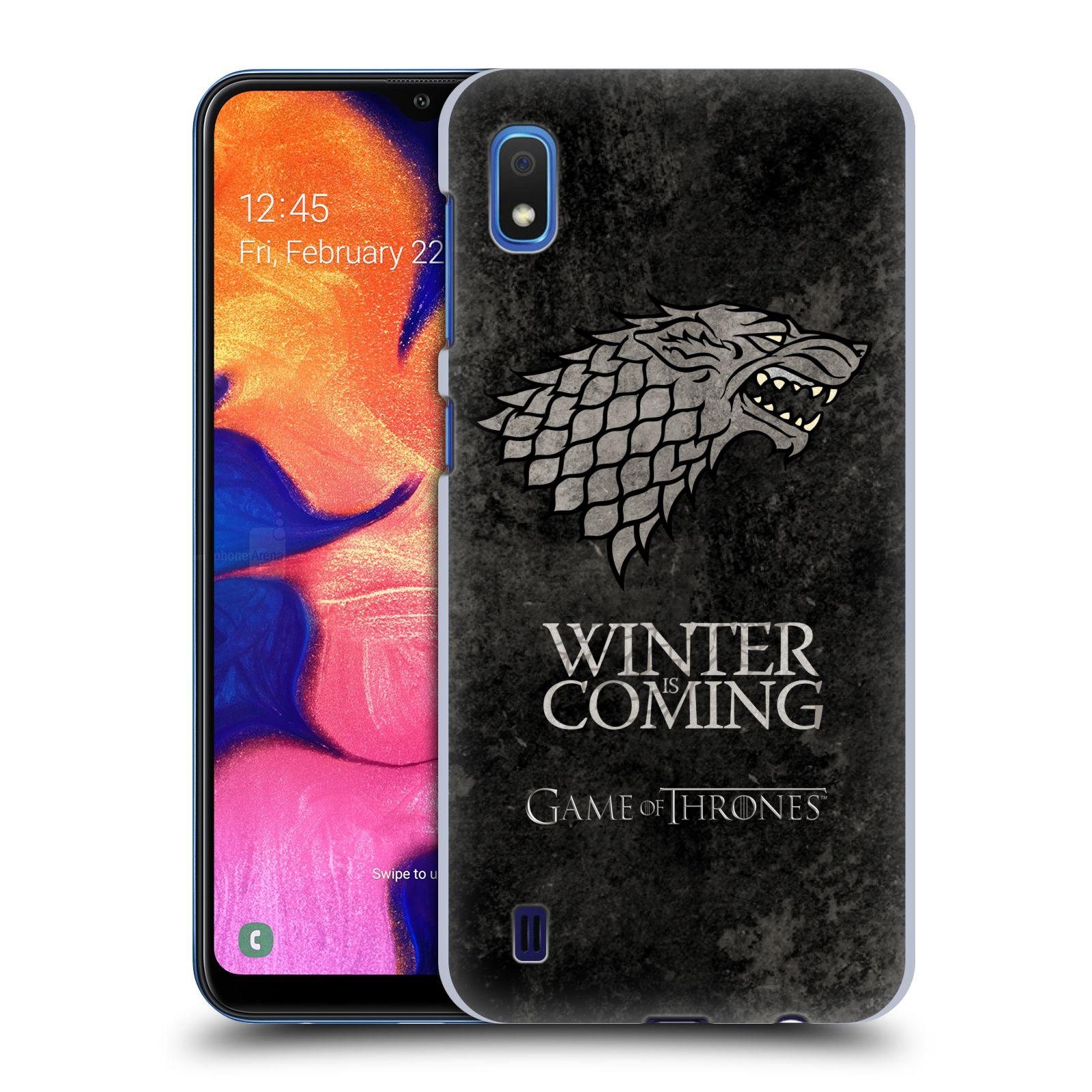 Plastové pouzdro na mobil Samsung Galaxy A10 - Head Case - Hra o trůny - Stark - Winter is coming