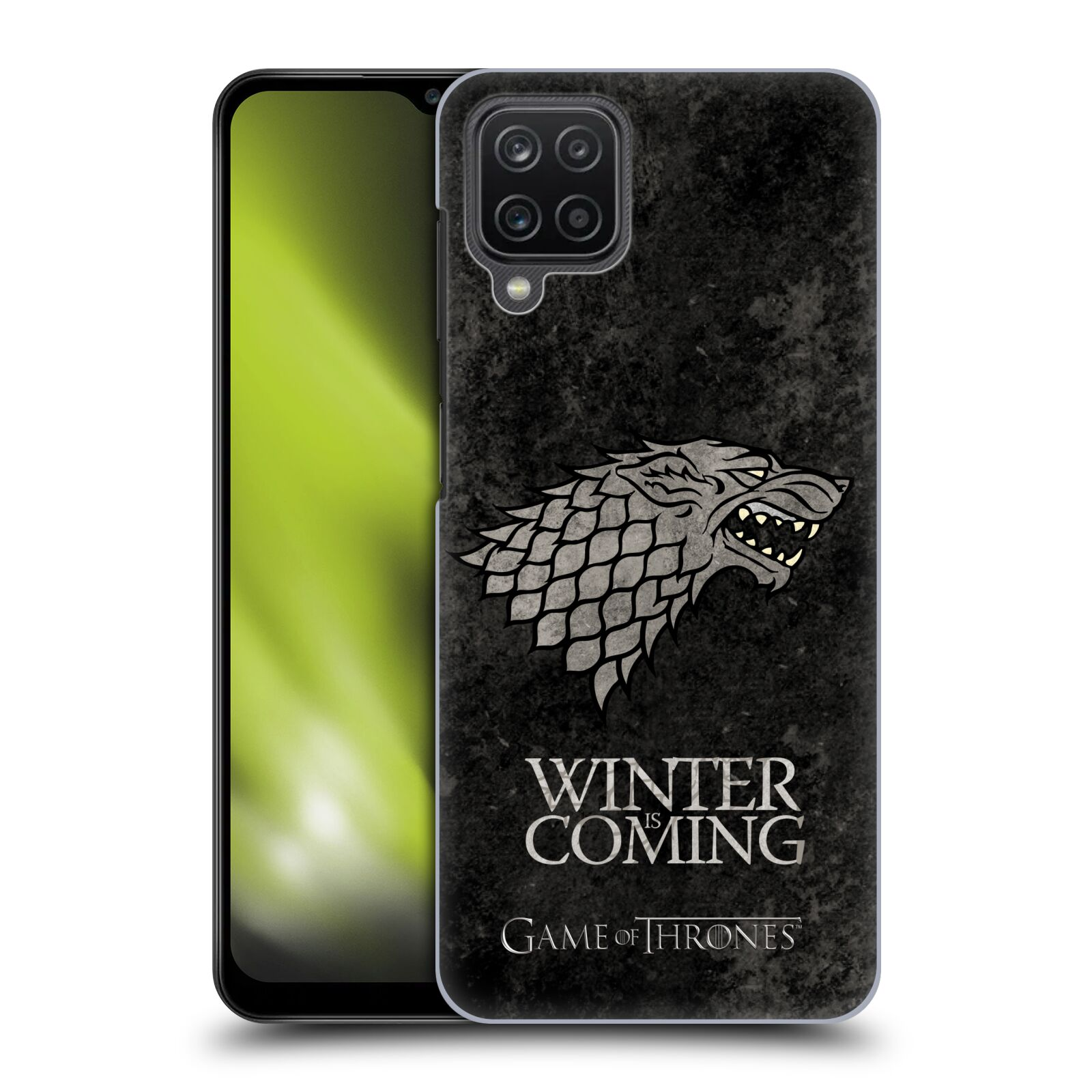 Plastové pouzdro na mobil Samsung Galaxy A12 - Head Case - Hra o trůny - Stark - Winter is coming