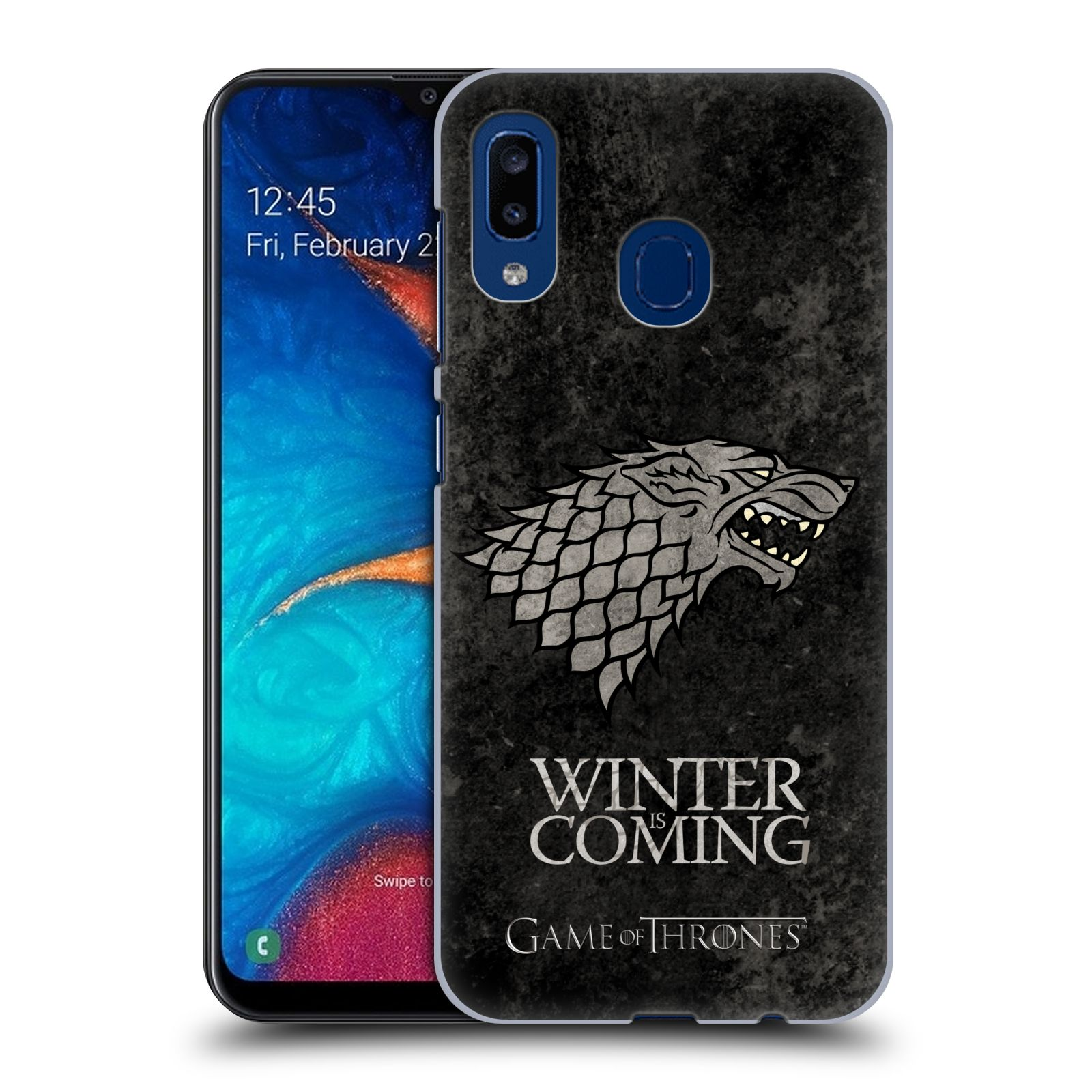 Plastové pouzdro na mobil Samsung Galaxy A20 - Head Case - Hra o trůny - Stark - Winter is coming