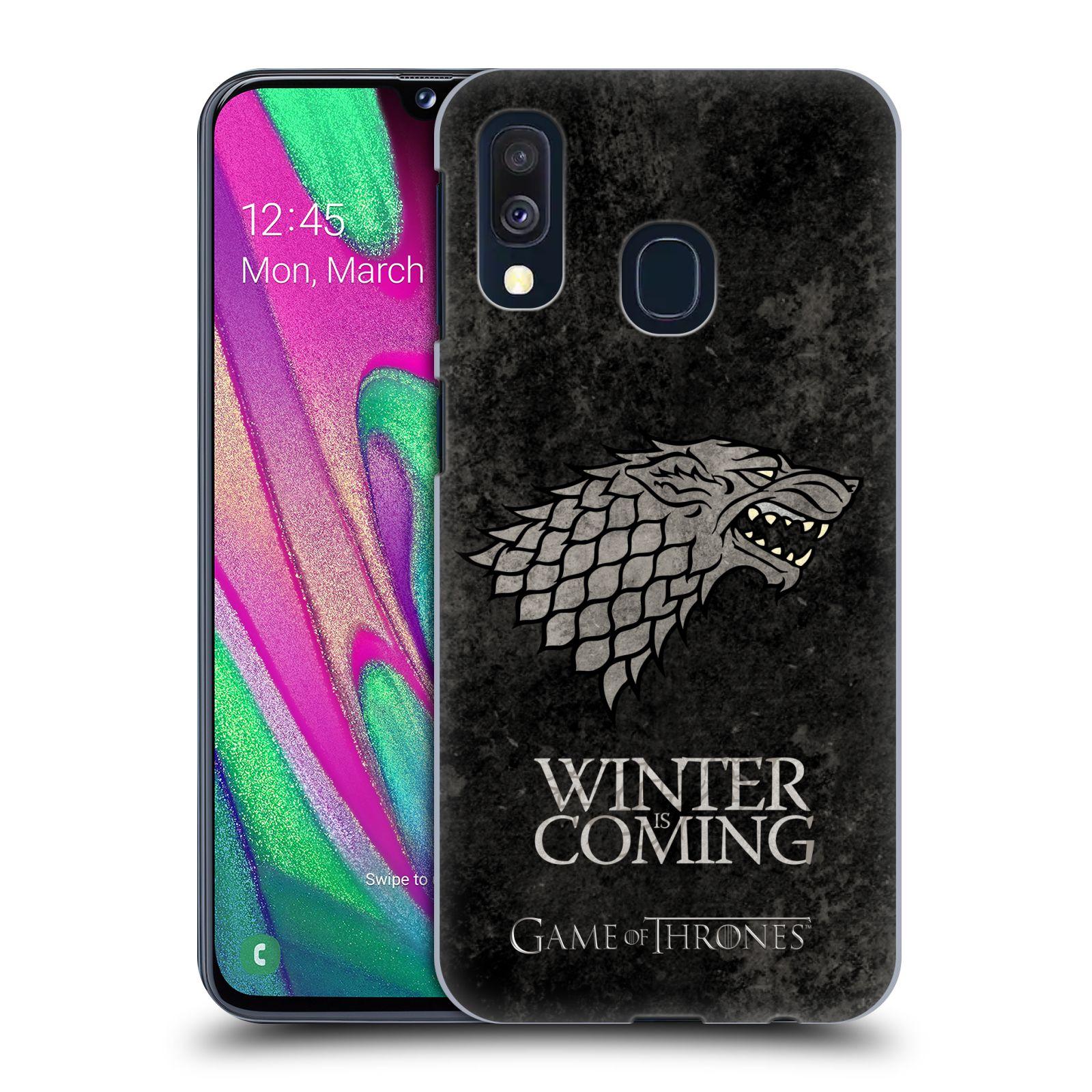 Plastové pouzdro na mobil Samsung Galaxy A40 - Head Case - Hra o trůny - Stark - Winter is coming