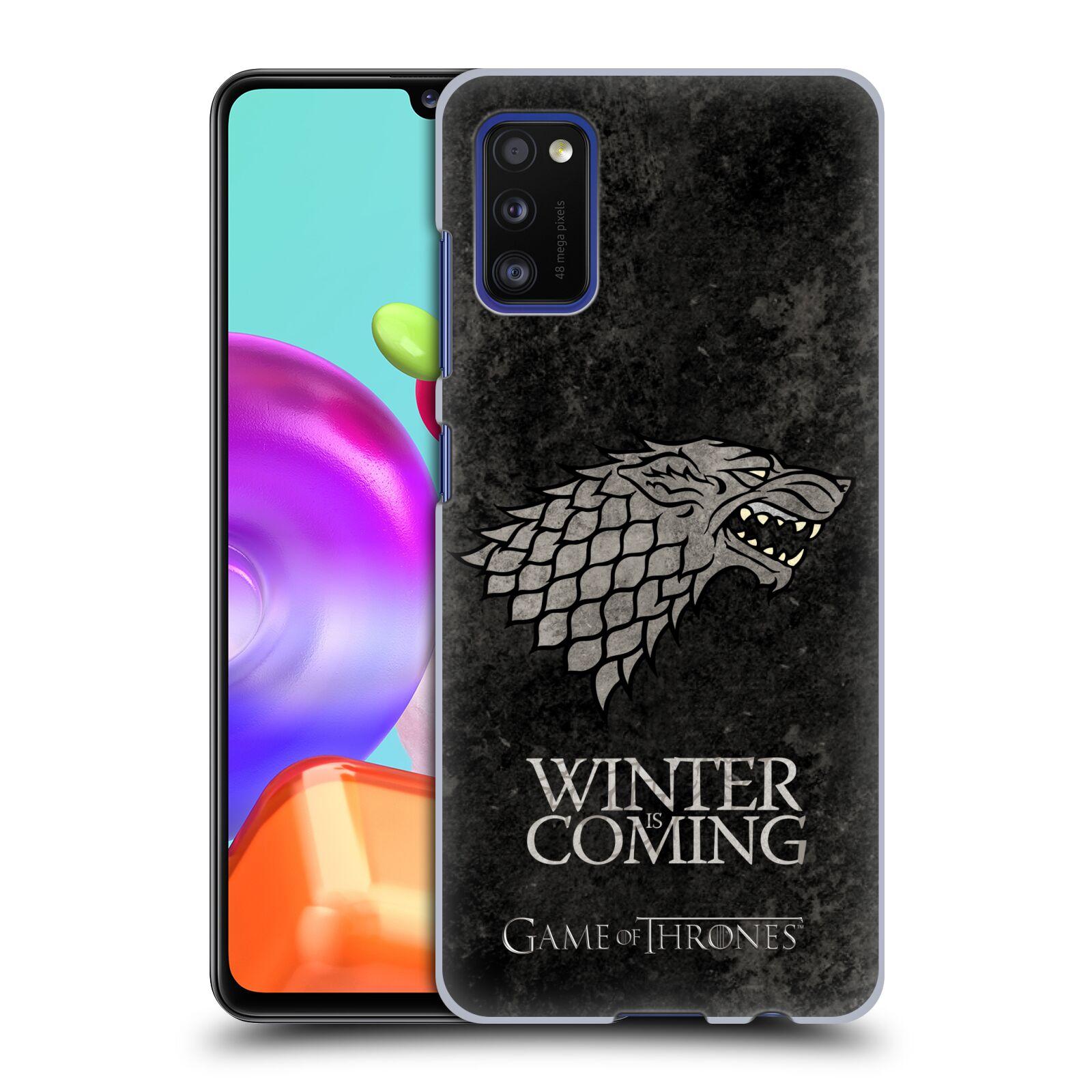 Plastové pouzdro na mobil Samsung Galaxy A41 - Head Case - Hra o trůny - Stark - Winter is coming