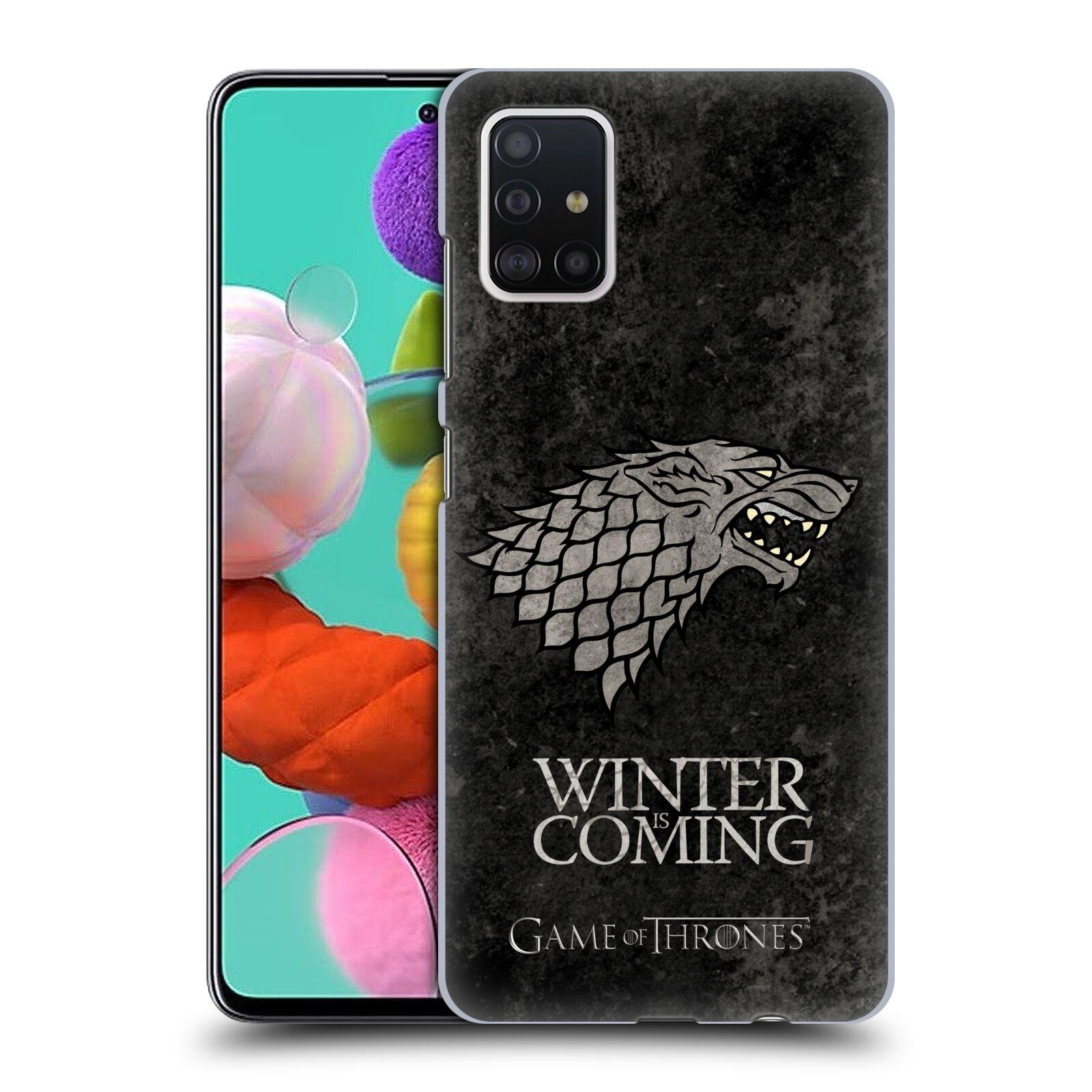 Plastové pouzdro na mobil Samsung Galaxy A51 - Head Case - Hra o trůny - Stark - Winter is coming