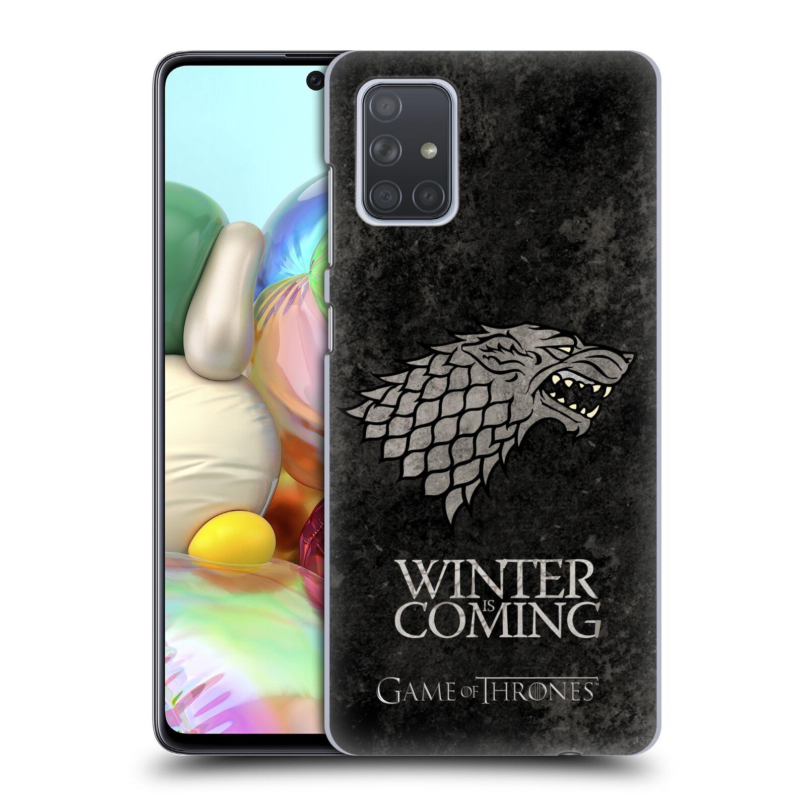 Plastové pouzdro na mobil Samsung Galaxy A71 - Head Case - Hra o trůny - Stark - Winter is coming