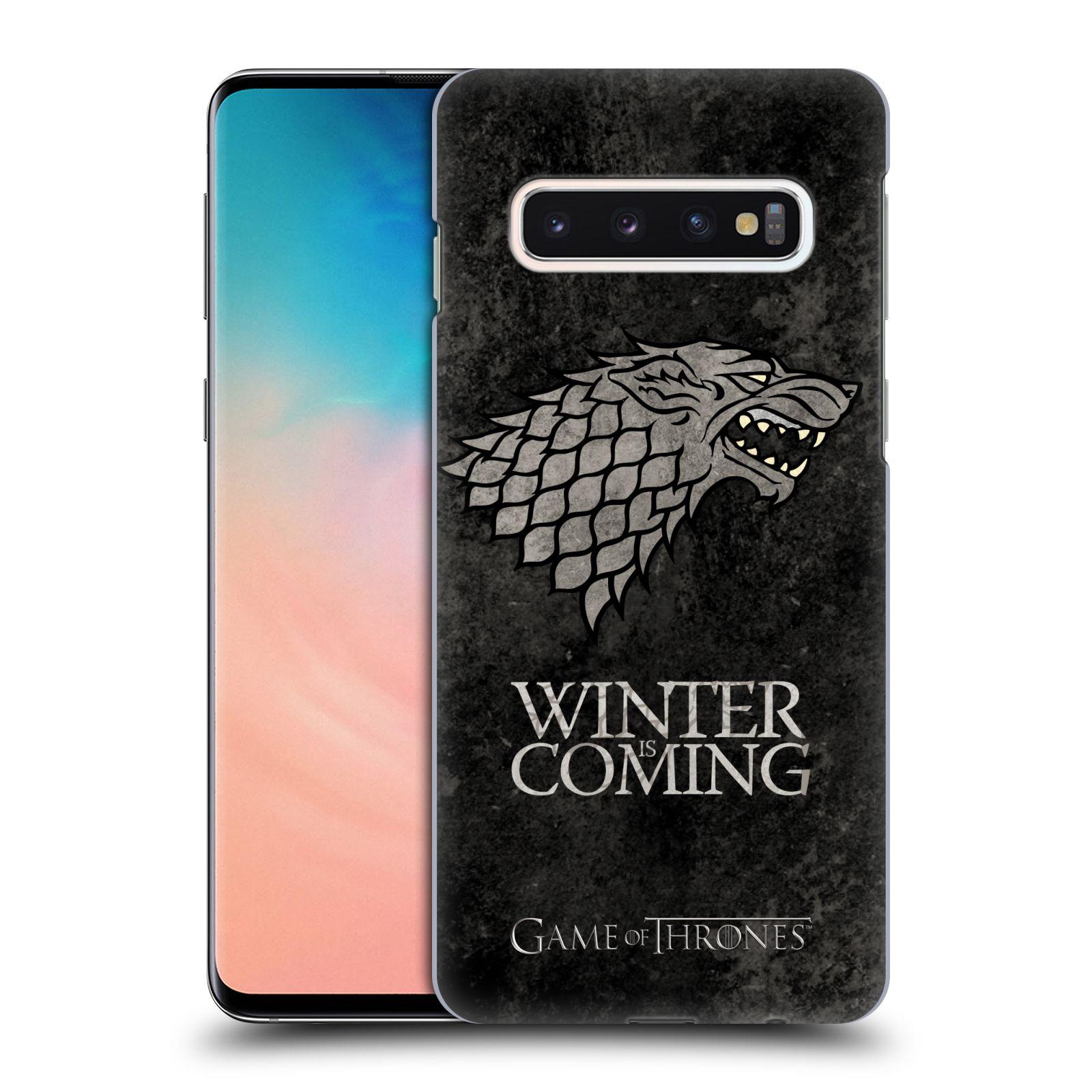 Plastové pouzdro na mobil Samsung Galaxy S10 - Head Case - Hra o trůny - Stark - Winter is coming