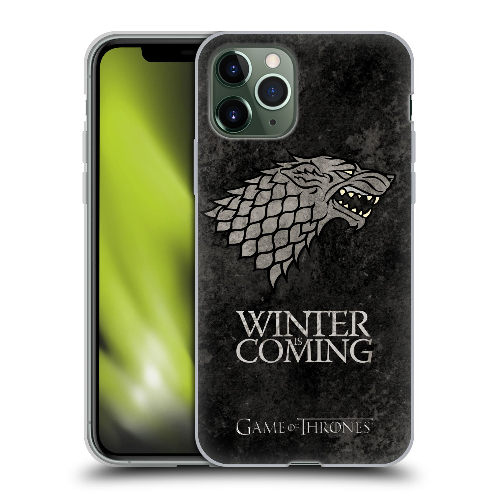 original krytu na iphone 8 plus , Silikonové pouzdro na mobil Apple iPhone 11 Pro - Head Case - Hra o trůny - Stark - Winter is coming