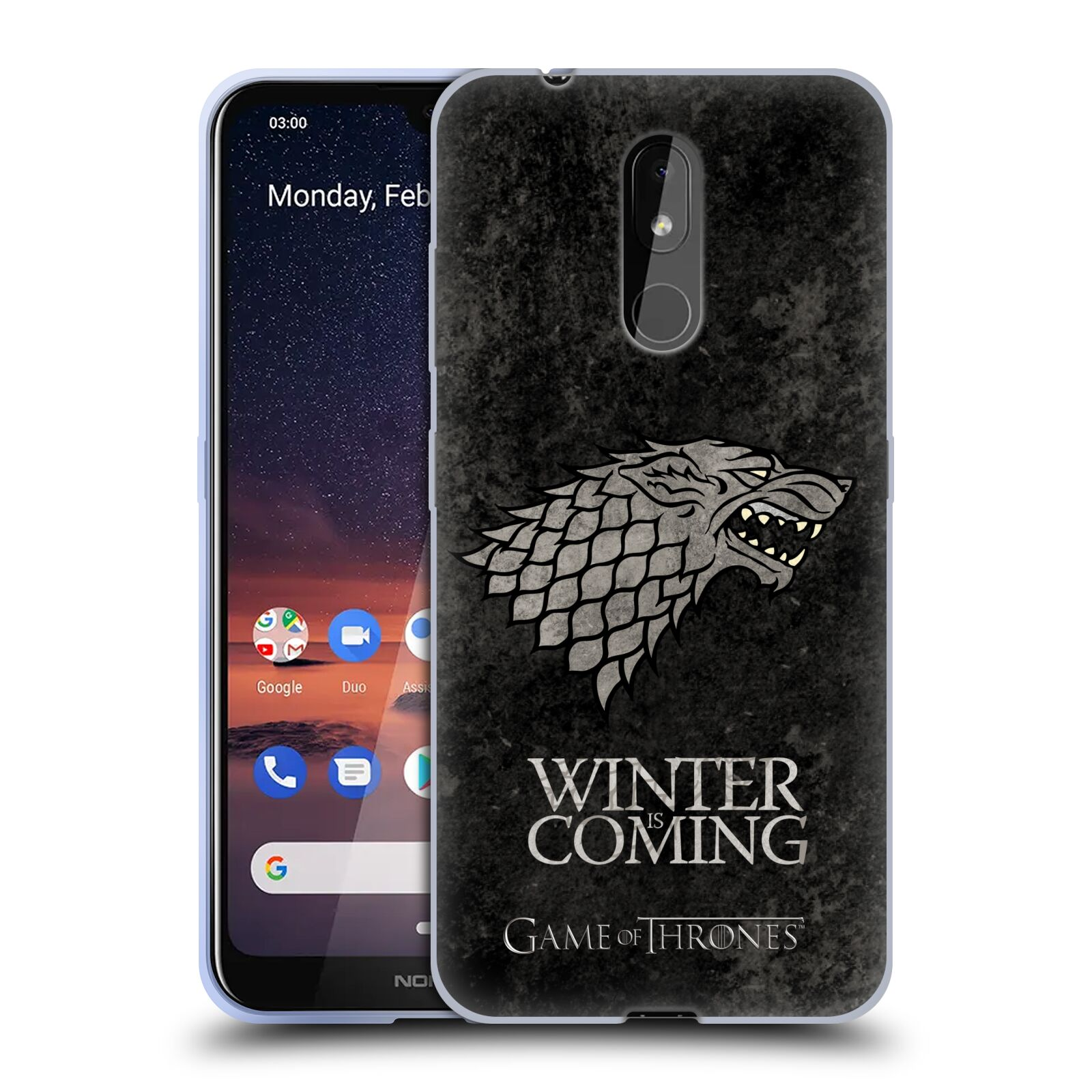 Silikonové pouzdro na mobil Nokia 3.2 - Head Case - Hra o trůny - Stark - Winter is coming