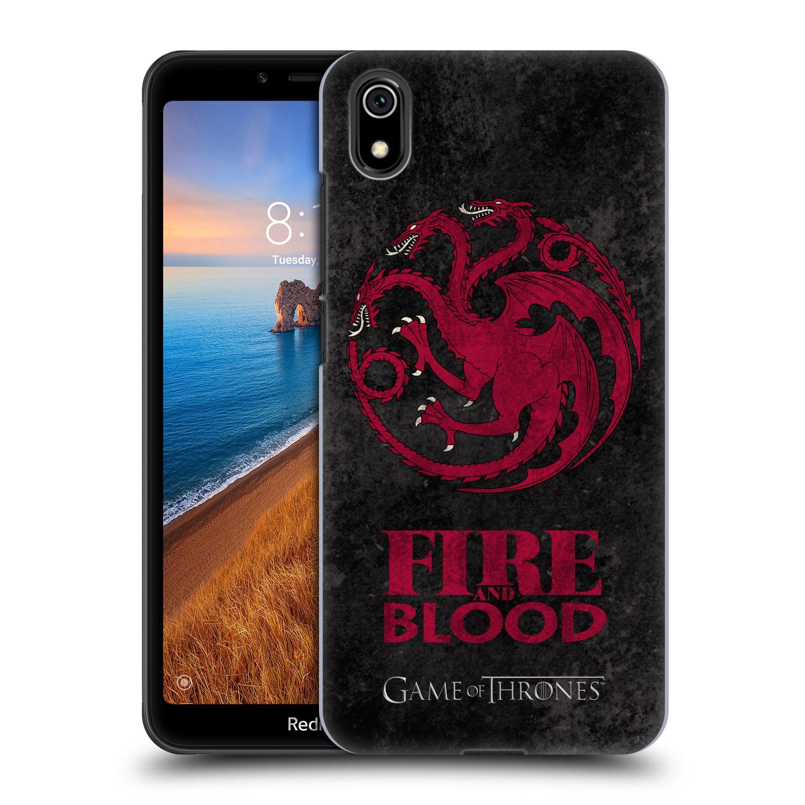 Plastové pouzdro na mobil Xiaomi Redmi 7A - Head Case - Hra o trůny - Sigils Targaryen - Fire and Blood