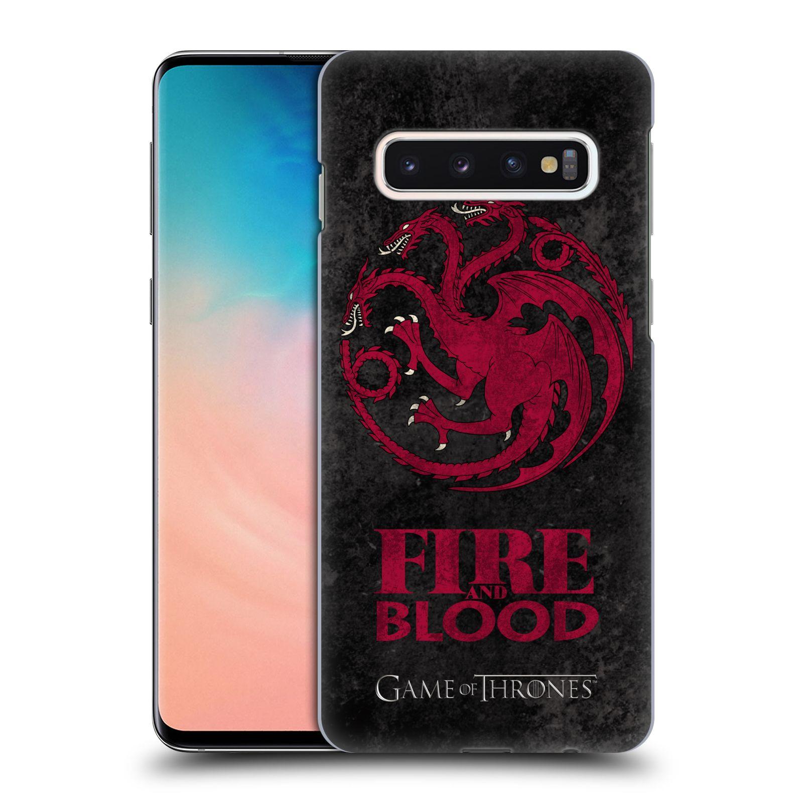 Plastové pouzdro na mobil Samsung Galaxy S10 - Head Case - Hra o trůny - Sigils Targaryen - Fire and Blood
