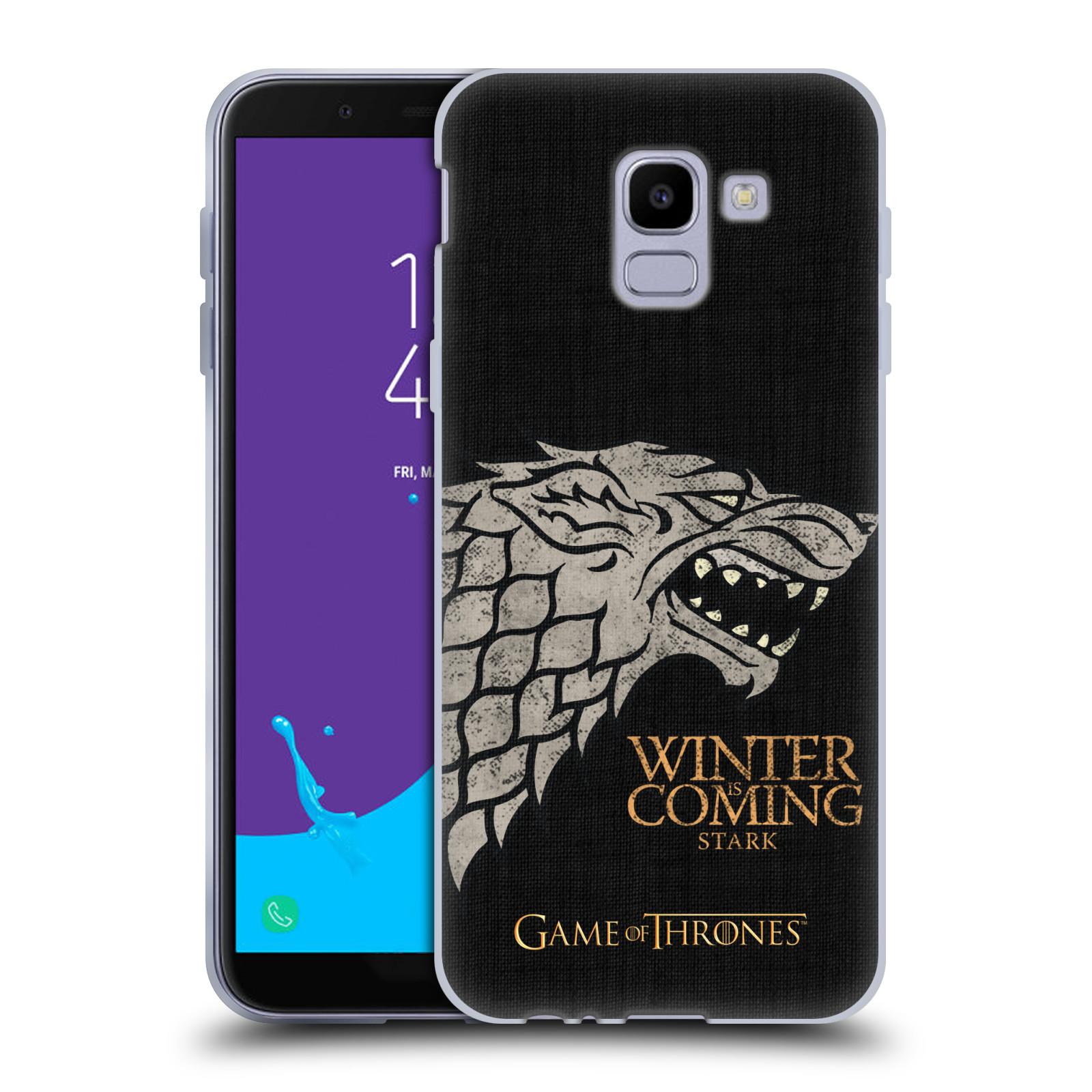 Silikonové pouzdro na mobil Samsung Galaxy J6 (2018) - Head Case - Hra o trůny - Stark House Motto