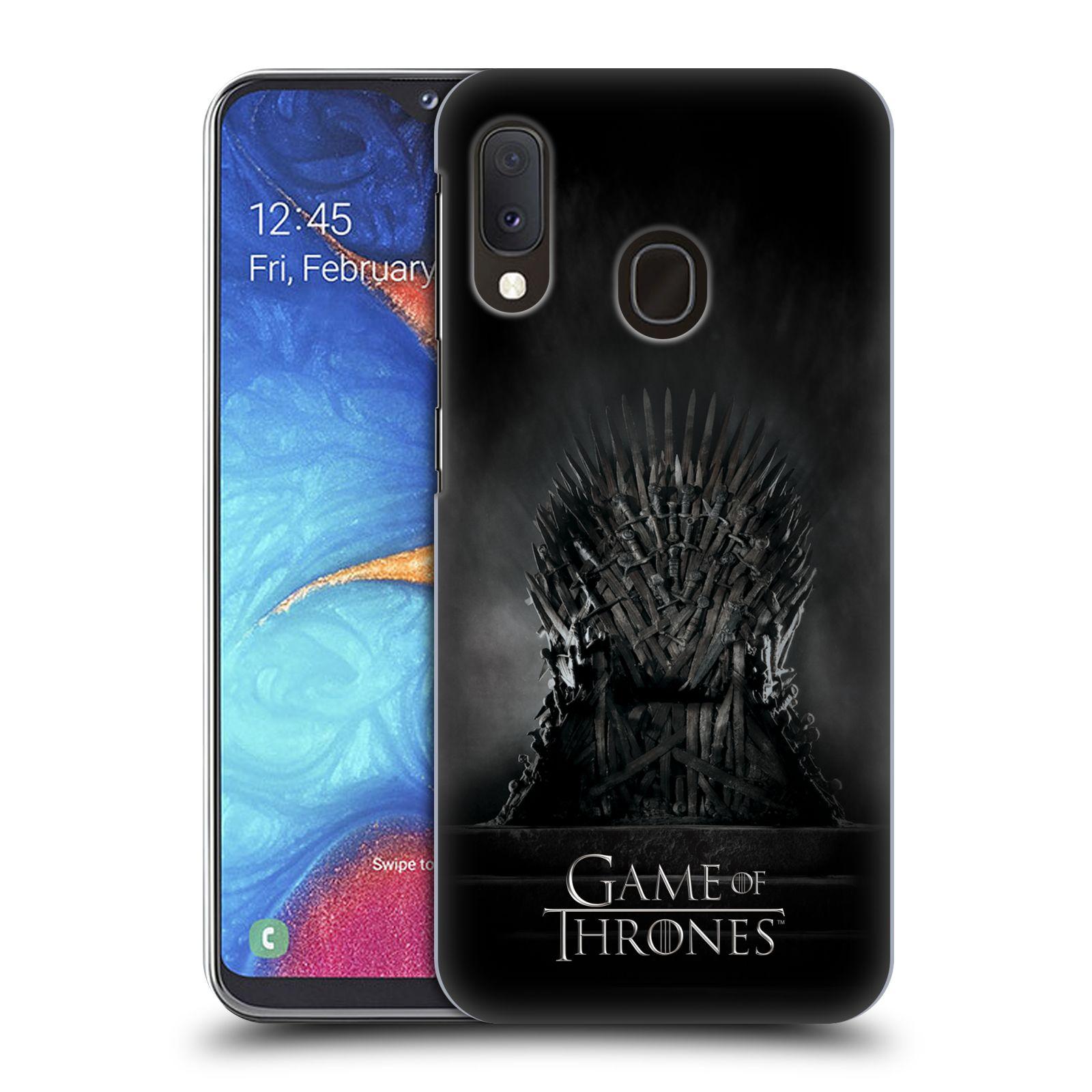 Plastové pouzdro na mobil Samsung Galaxy A20e - Head Case - Hra o trůny – Železný trůn