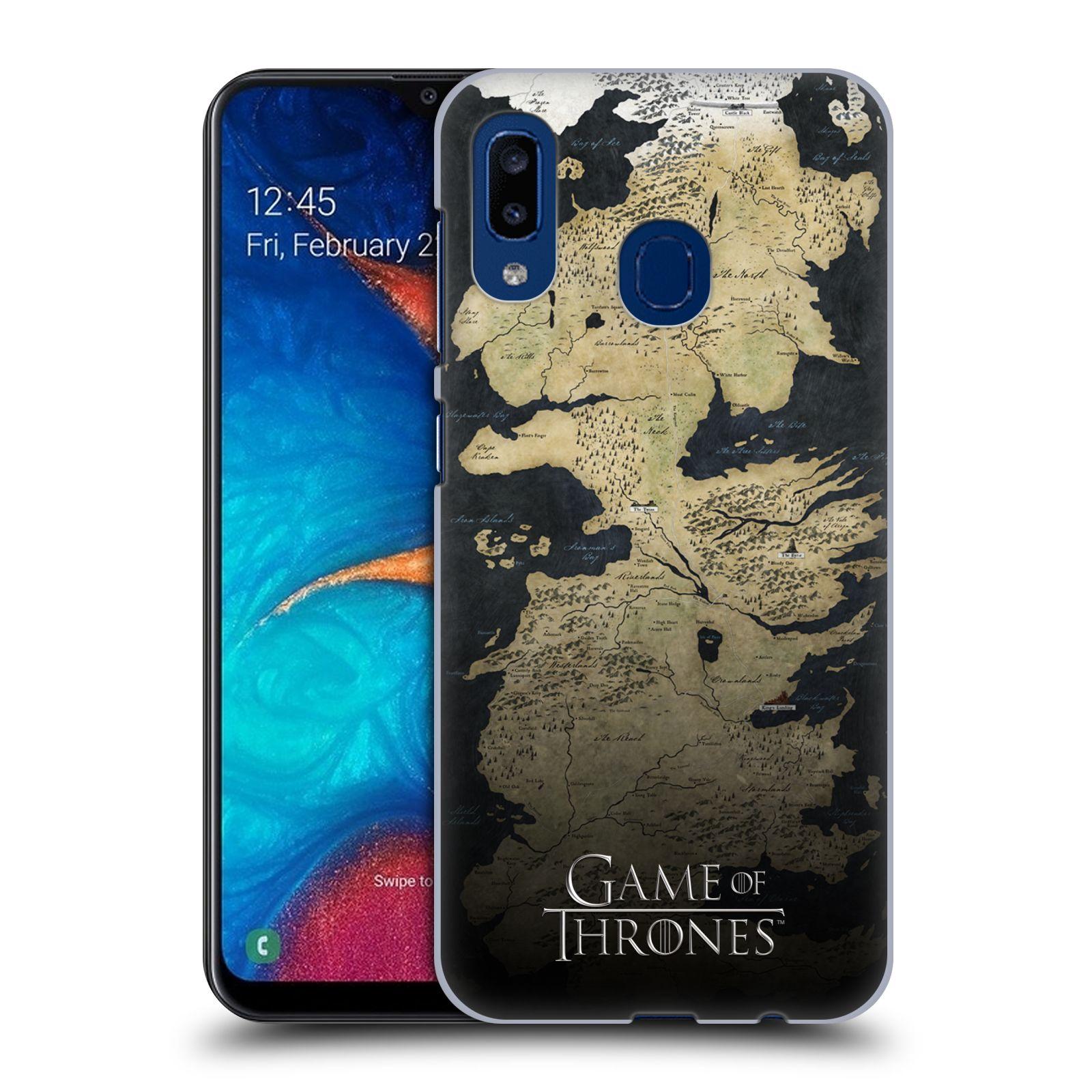 Plastové pouzdro na mobil Samsung Galaxy A20 - Head Case - Hra o trůny - Mapa západozemí