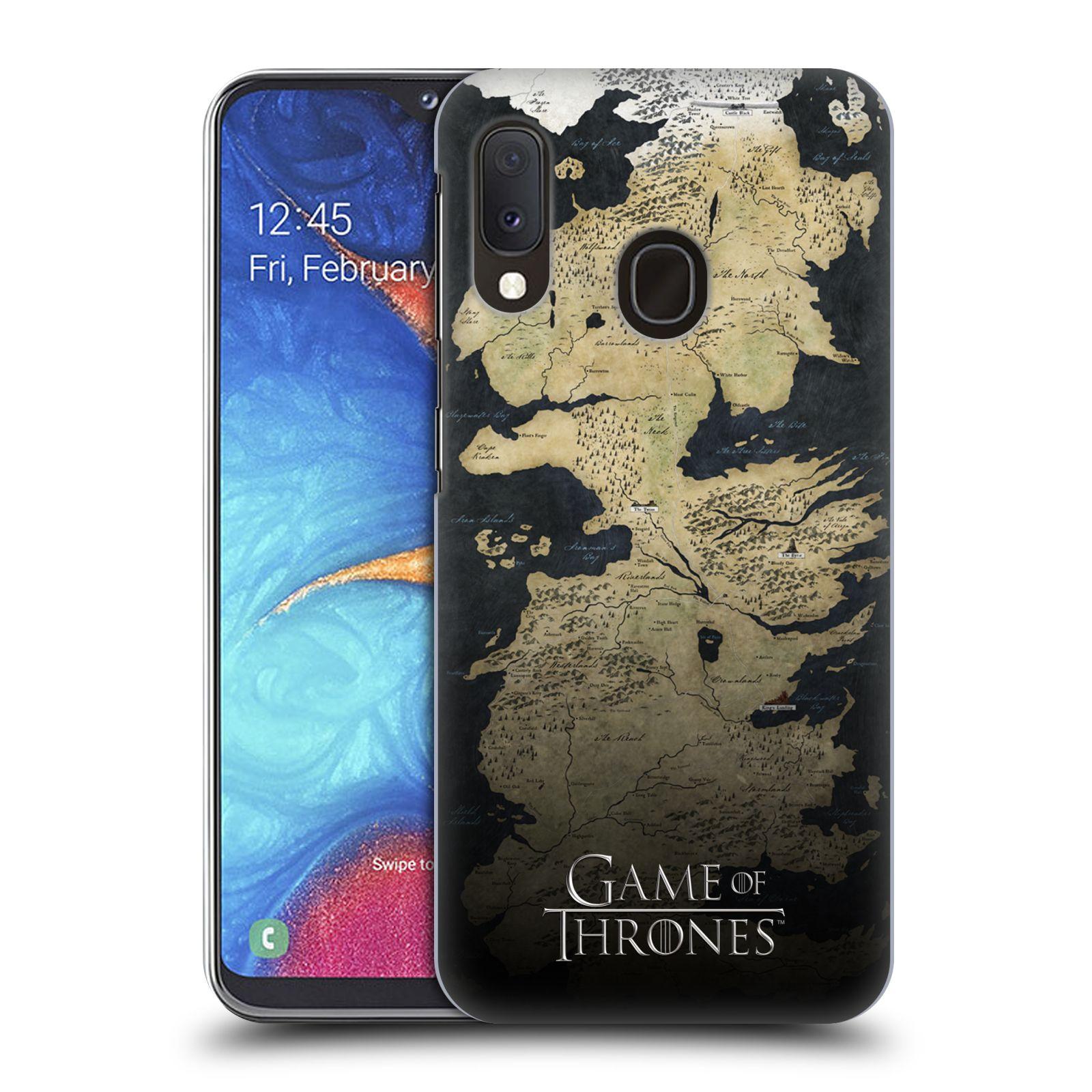 Plastové pouzdro na mobil Samsung Galaxy A20e - Head Case - Hra o trůny - Mapa západozemí