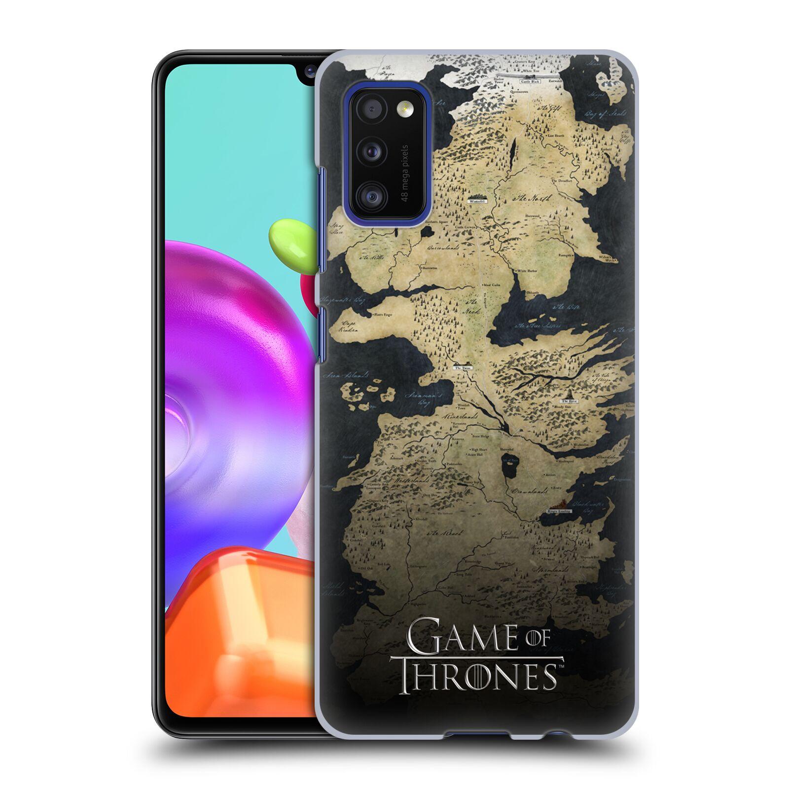 Plastové pouzdro na mobil Samsung Galaxy A41 - Head Case - Hra o trůny - Mapa západozemí