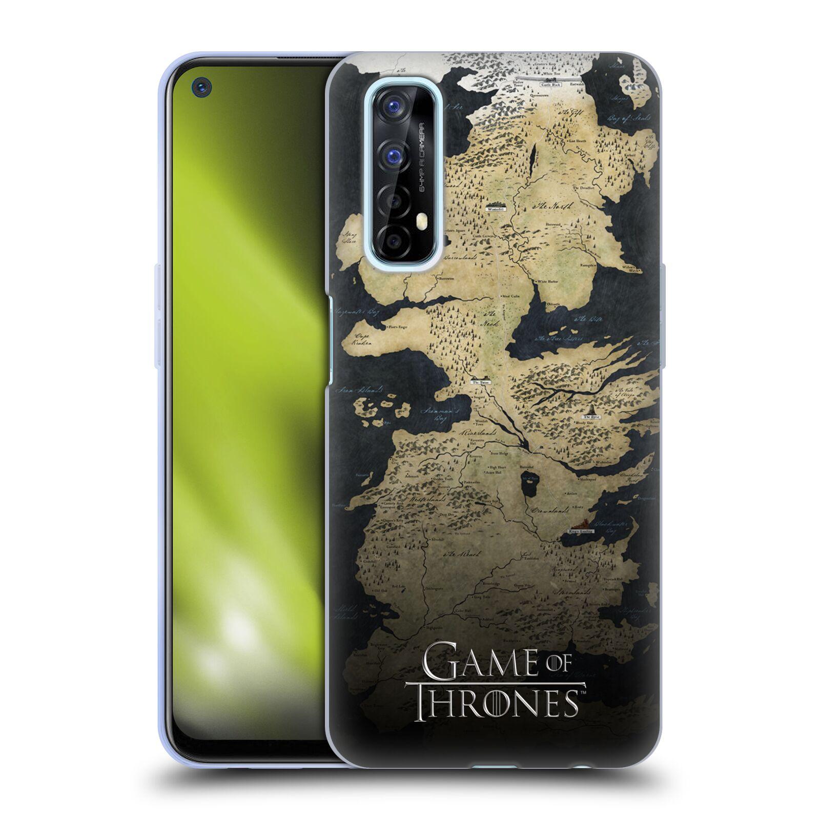 Silikonové pouzdro na mobil Realme 7 - Head Case - Hra o trůny - Mapa západozemí