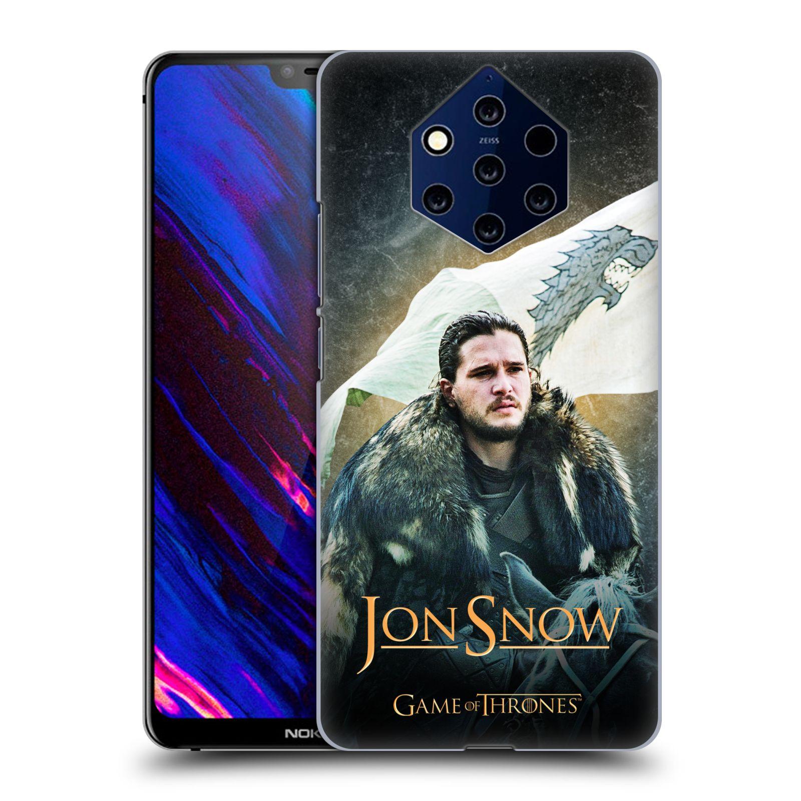 Plastové pouzdro na mobil Nokia 9 PureView - Head Case - Hra o trůny - Jon Snow na koni