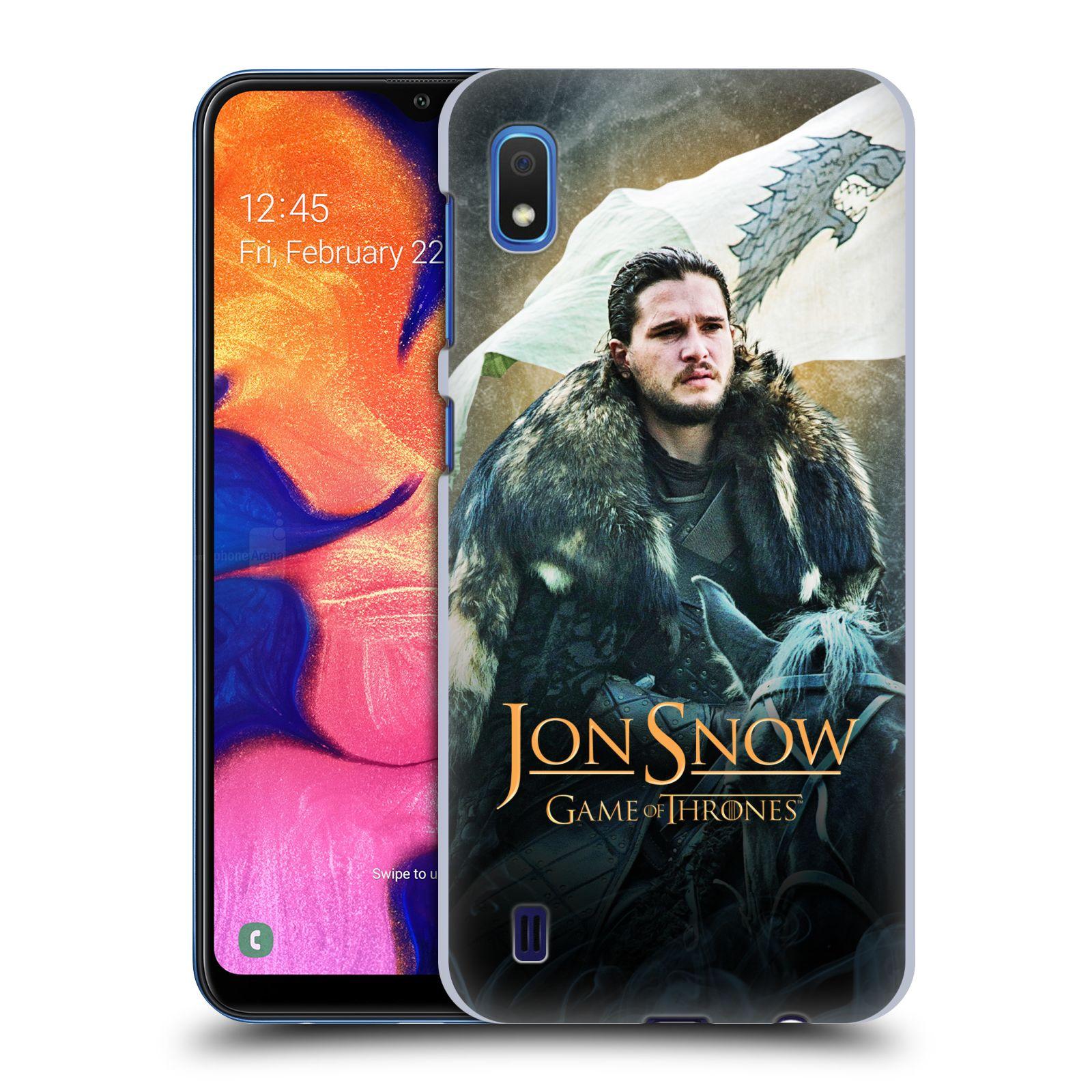 Plastové pouzdro na mobil Samsung Galaxy A10 - Head Case - Jon Snow na koni