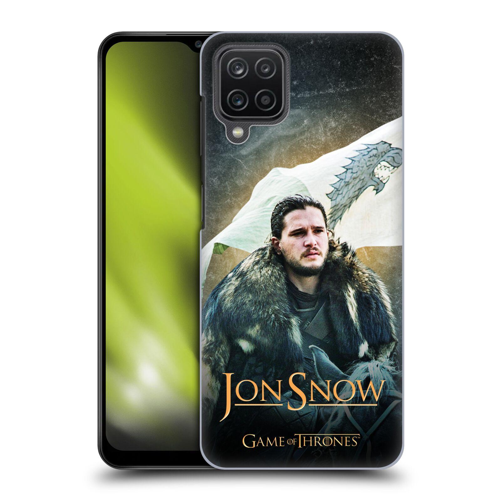 Plastové pouzdro na mobil Samsung Galaxy A12 - Head Case - Jon Snow na koni