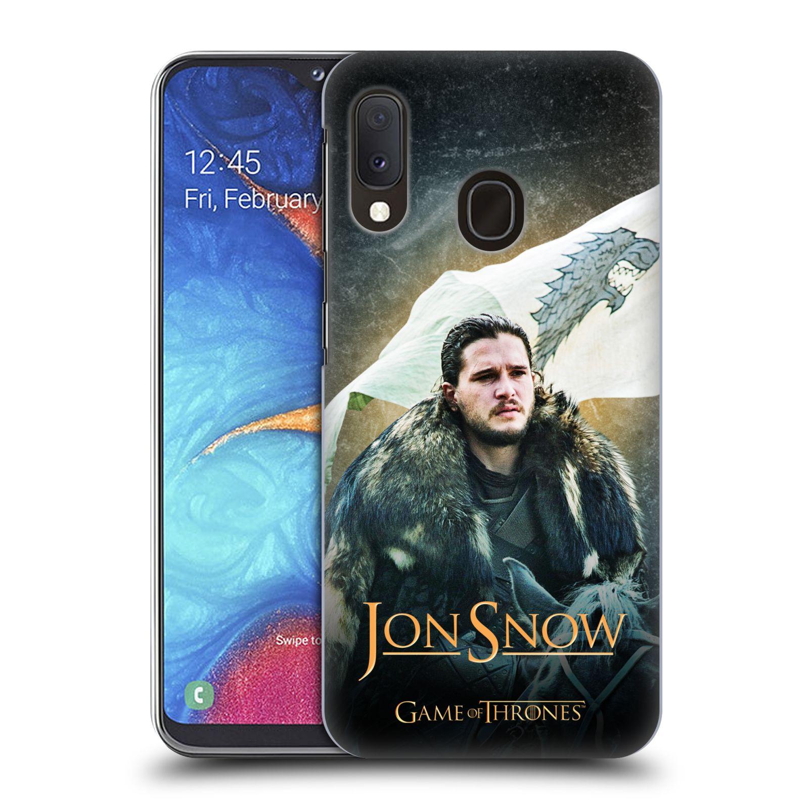 Plastové pouzdro na mobil Samsung Galaxy A20e - Head Case - Jon Snow na koni