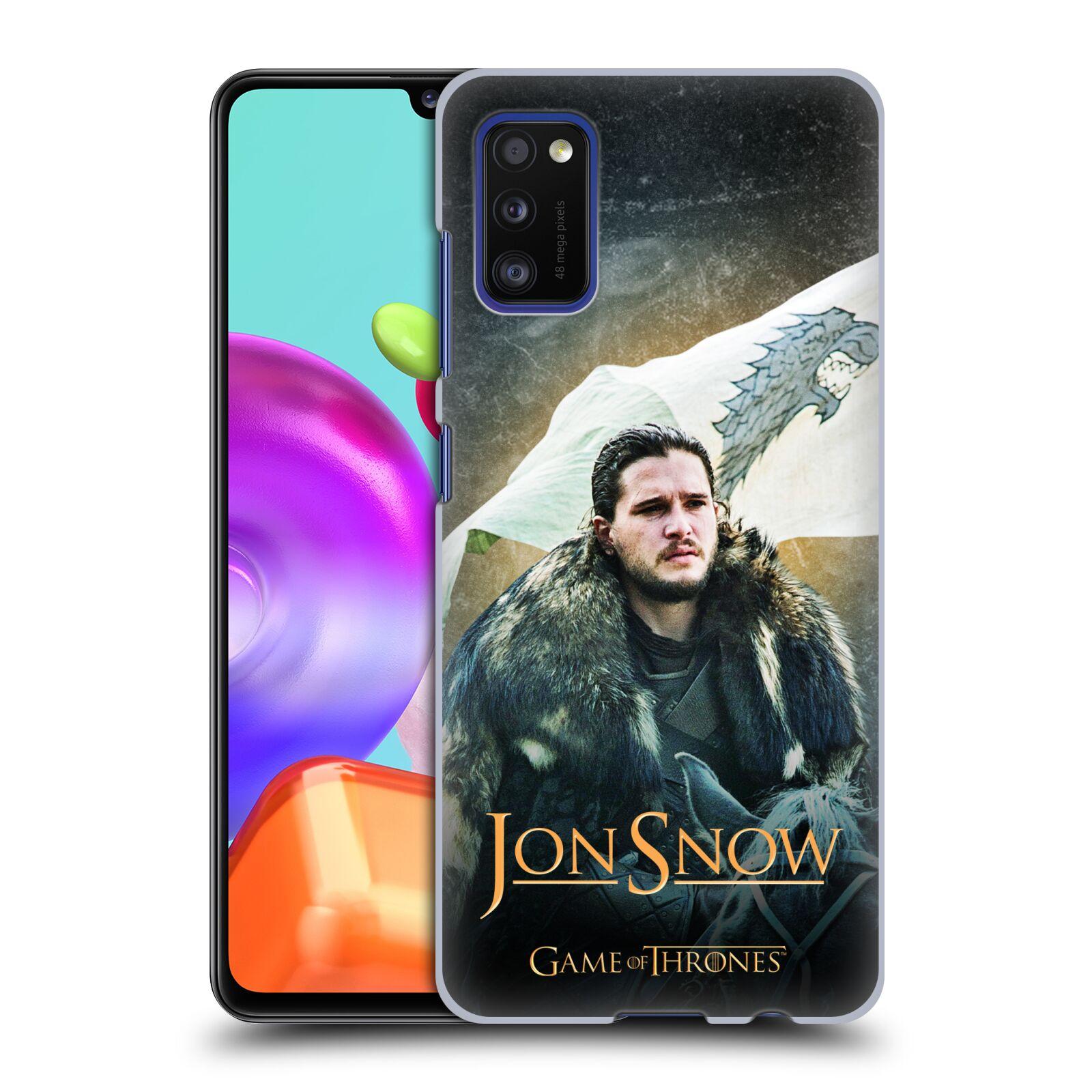 Plastové pouzdro na mobil Samsung Galaxy A41 - Head Case - Jon Snow na koni