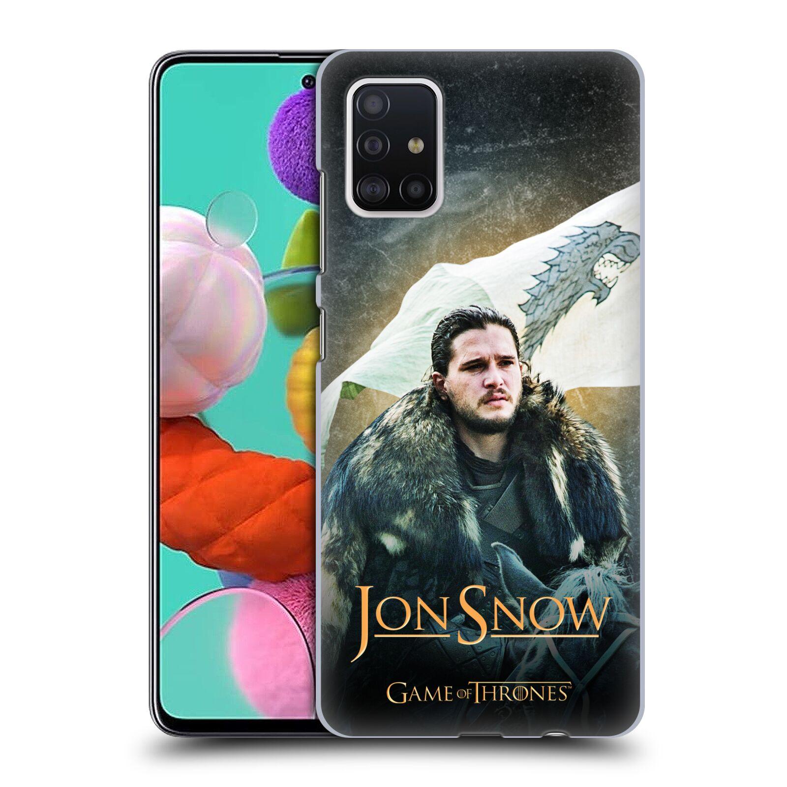 Plastové pouzdro na mobil Samsung Galaxy A51 - Head Case - Jon Snow na koni