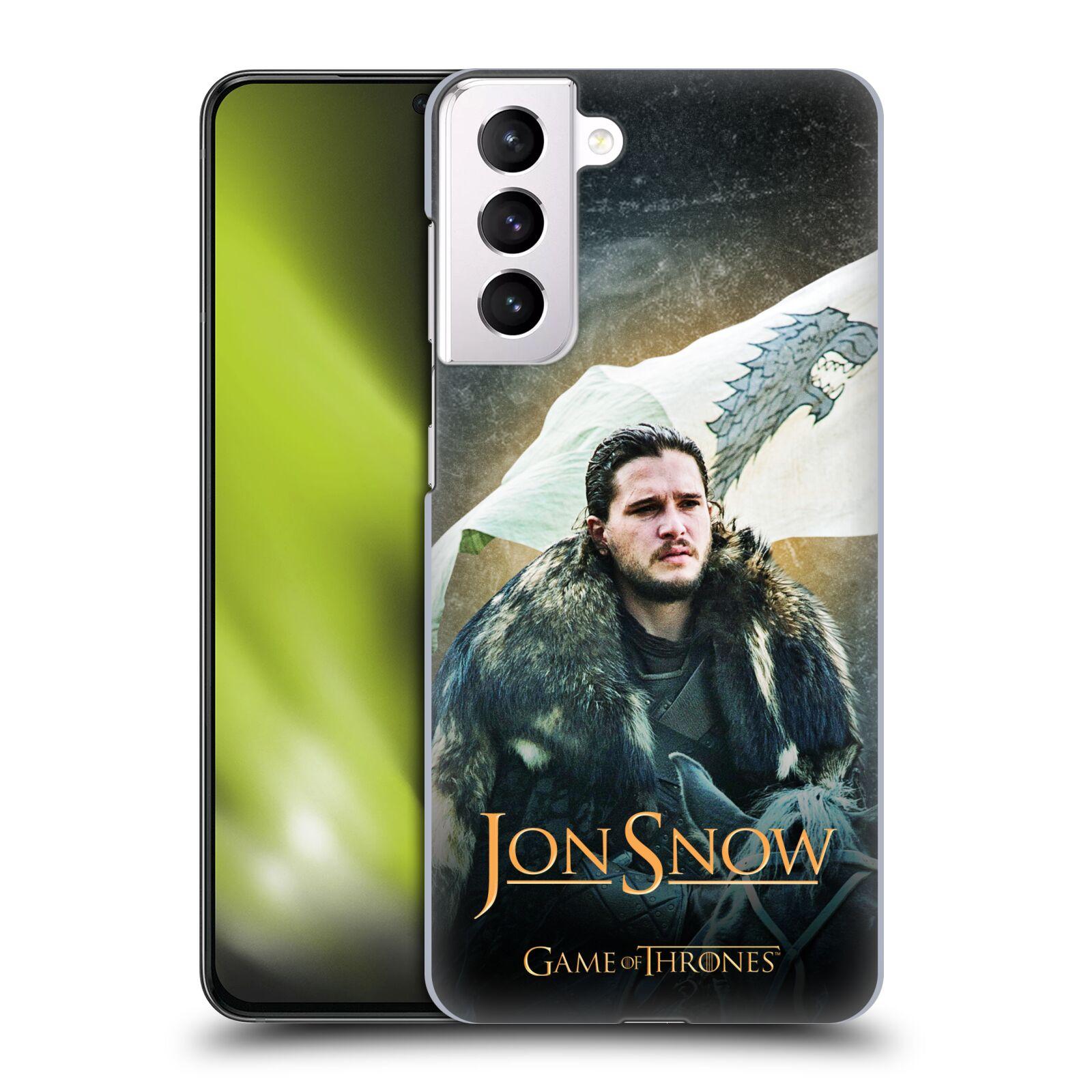 Plastové pouzdro na mobil Samsung Galaxy S21 Plus 5G - Head Case - Jon Snow na koni