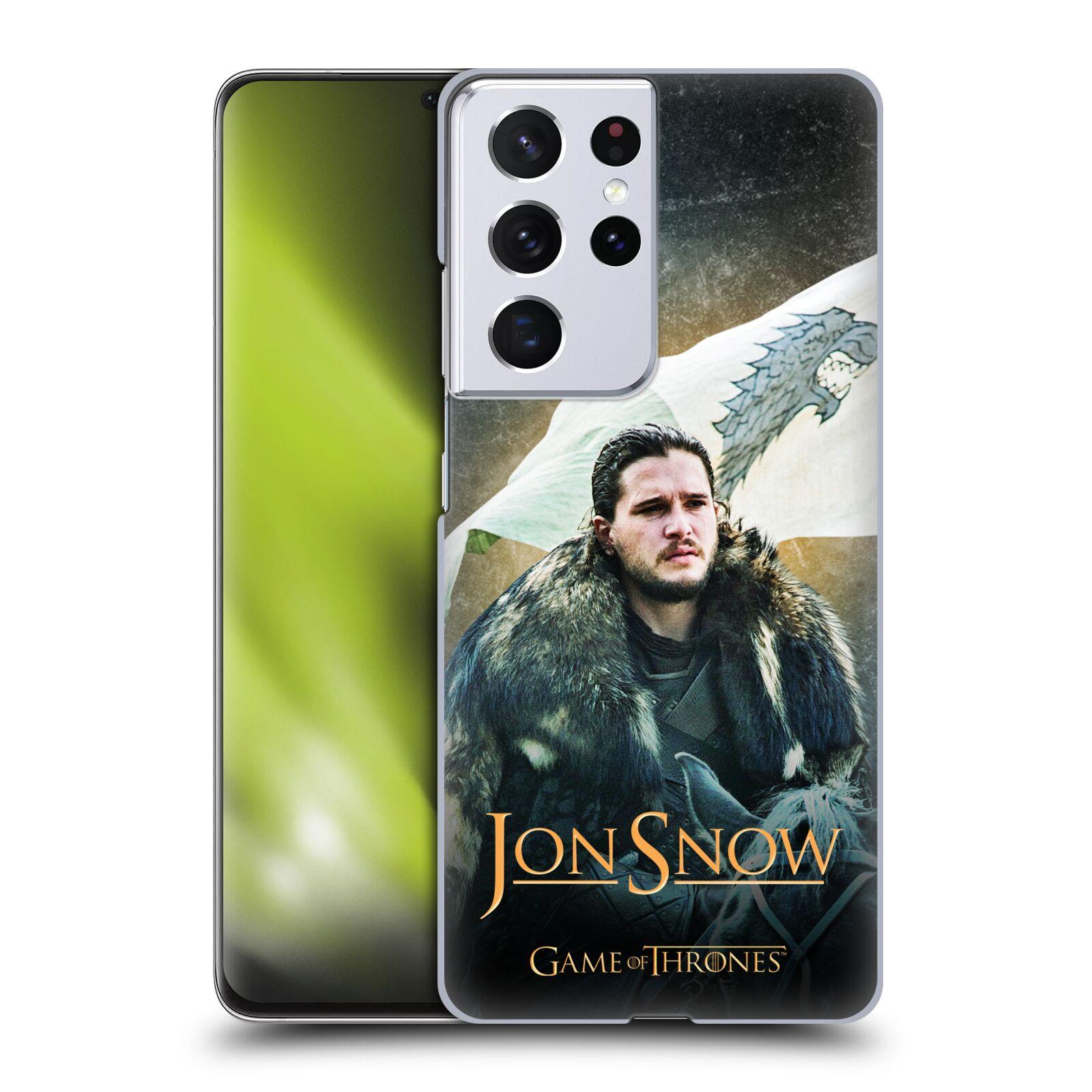Plastové pouzdro na mobil Samsung Galaxy S21 Ultra 5G - Head Case - Jon Snow na koni