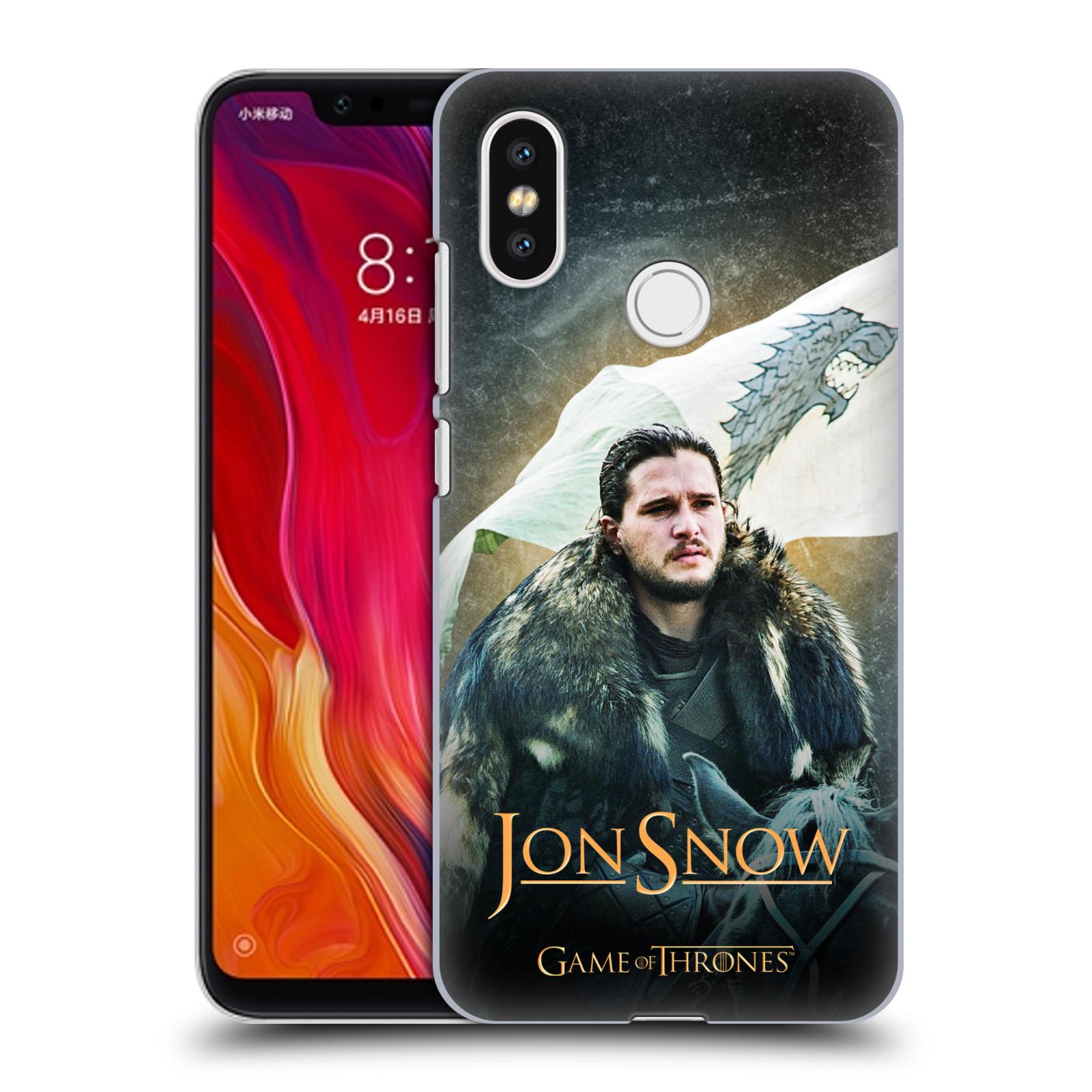 Plastové pouzdro na mobil Xiaomi Mi8 - Head Case - Hra o trůny - Jon Snow na koni