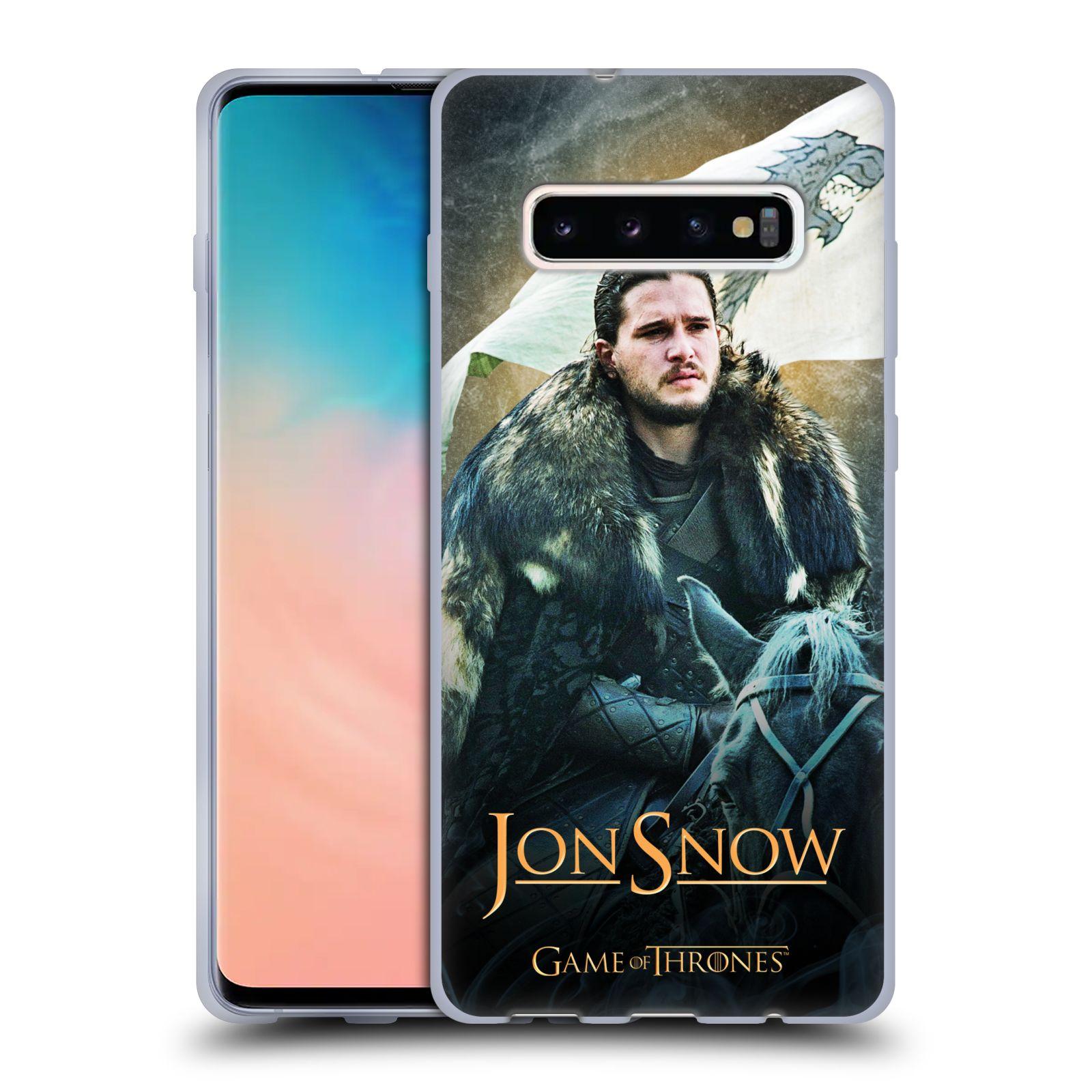 Silikonové pouzdro na mobil Samsung Galaxy S10 Plus - Head Case - Hra o trůny - Jon Snow na koni