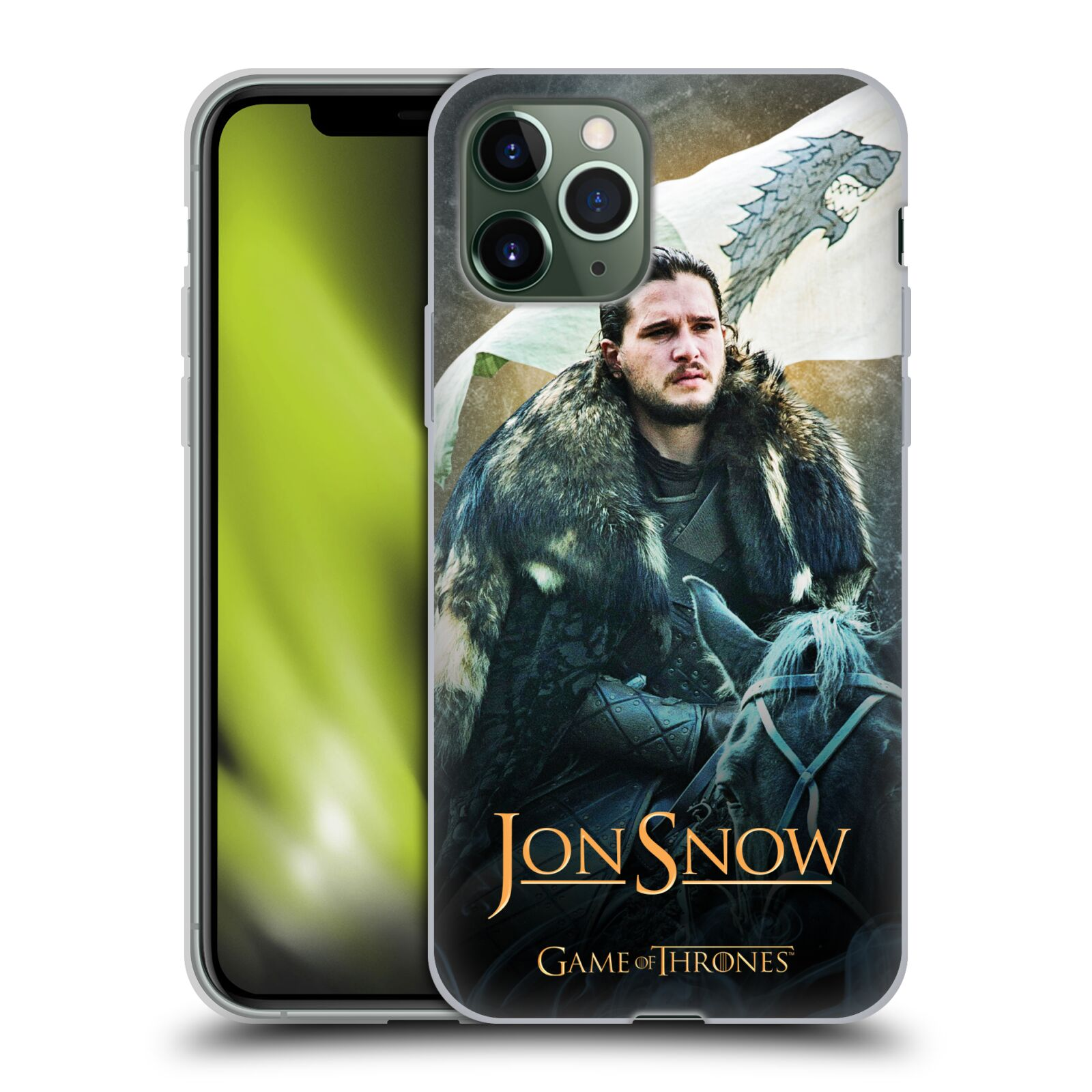 kryt na iphone xr apple , Silikonové pouzdro na mobil Apple iPhone 11 Pro - Head Case - Jon Snow na koni