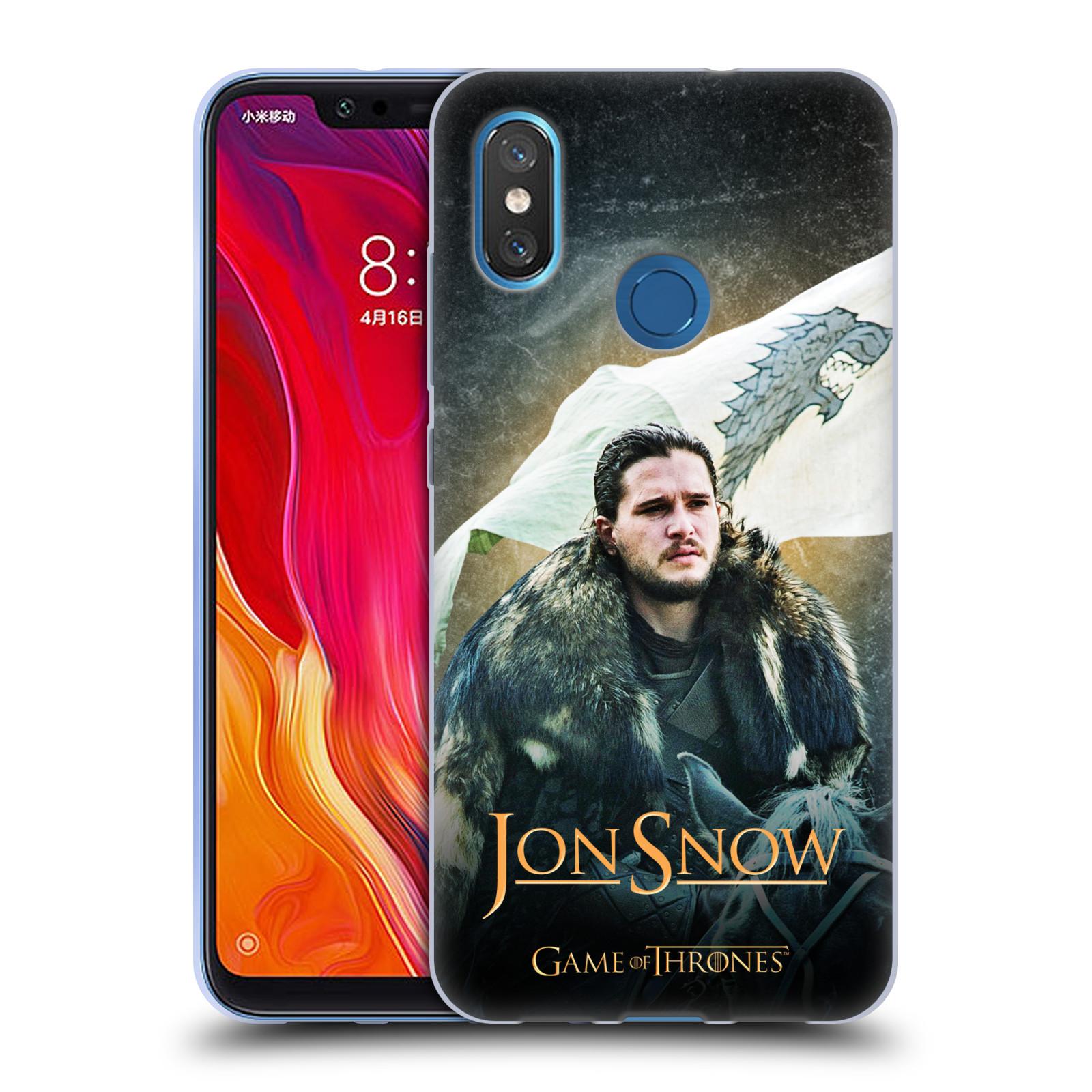 Silikonové pouzdro na mobil Xiaomi Mi8 - Head Case - Hra o trůny - Jon Snow na koni
