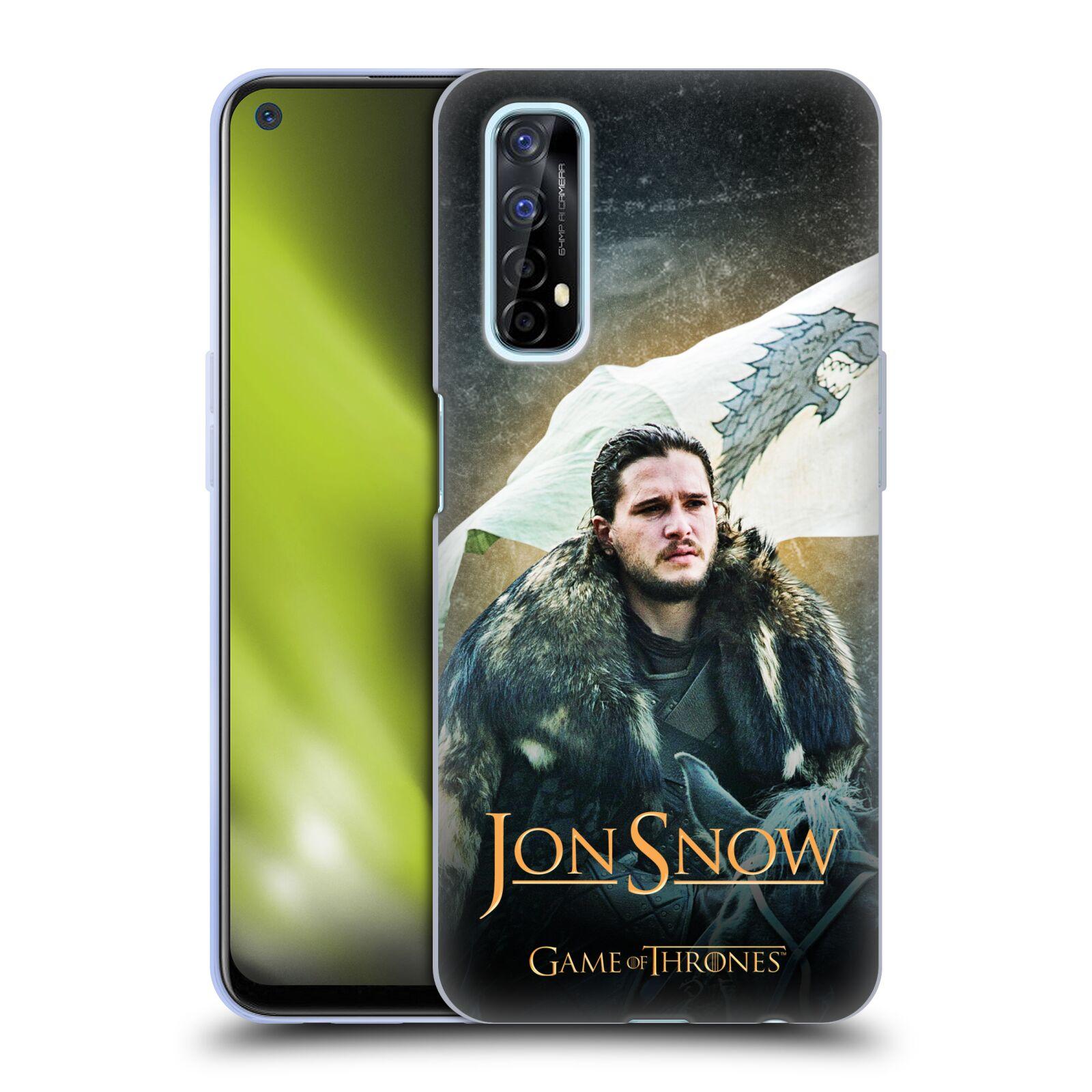 Silikonové pouzdro na mobil Realme 7 - Head Case - Jon Snow na koni