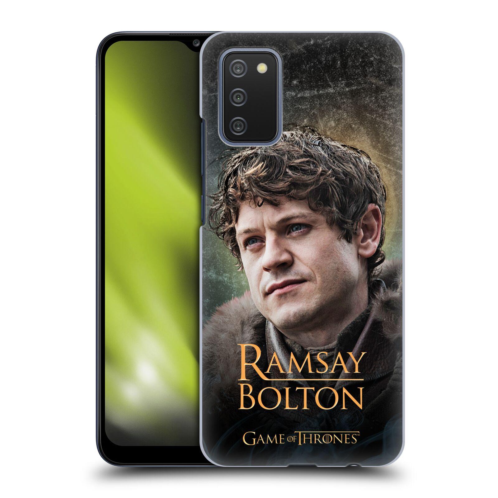 Plastové pouzdro na mobil Samsung Galaxy A02s - Head Case - Hra o trůny - Ramsay Bolton
