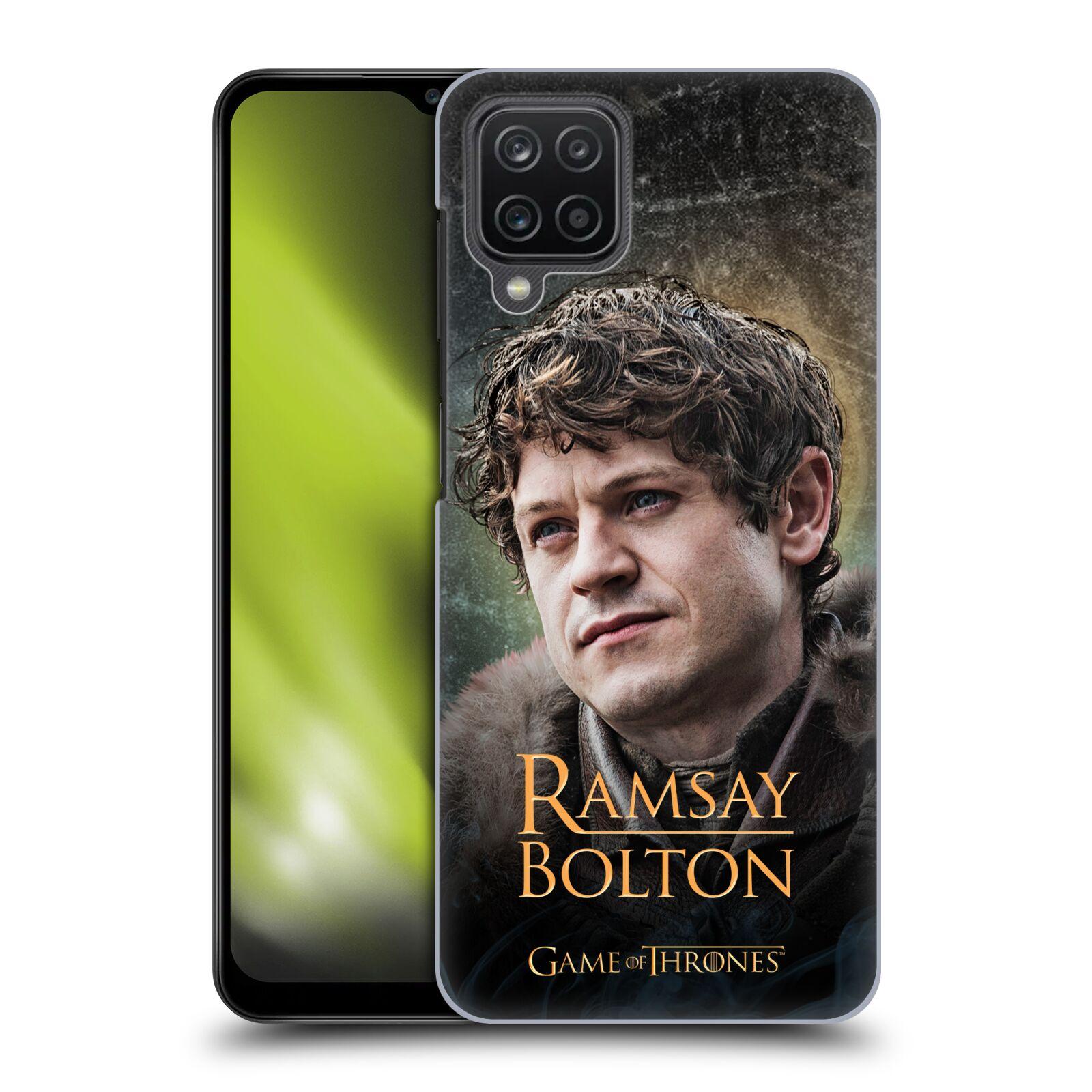 Plastové pouzdro na mobil Samsung Galaxy A12 - Head Case - Hra o trůny - Ramsay Bolton
