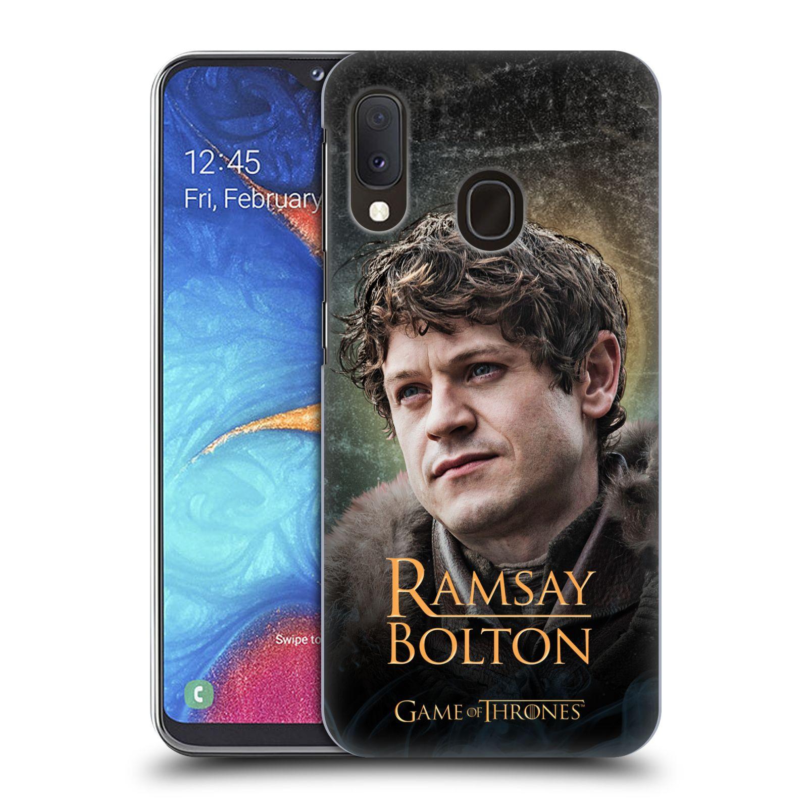 Plastové pouzdro na mobil Samsung Galaxy A20e - Head Case - Hra o trůny - Ramsay Bolton