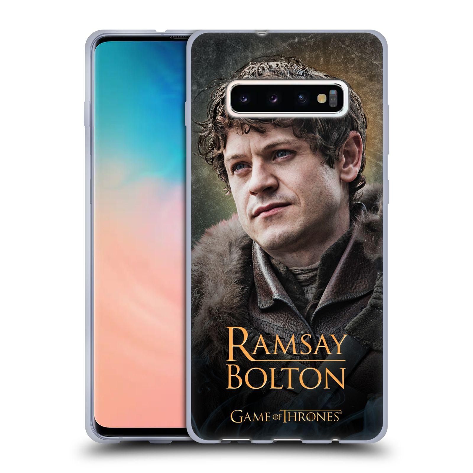 Silikonové pouzdro na mobil Samsung Galaxy S10 Plus - Head Case - Hra o trůny - Ramsay Bolton