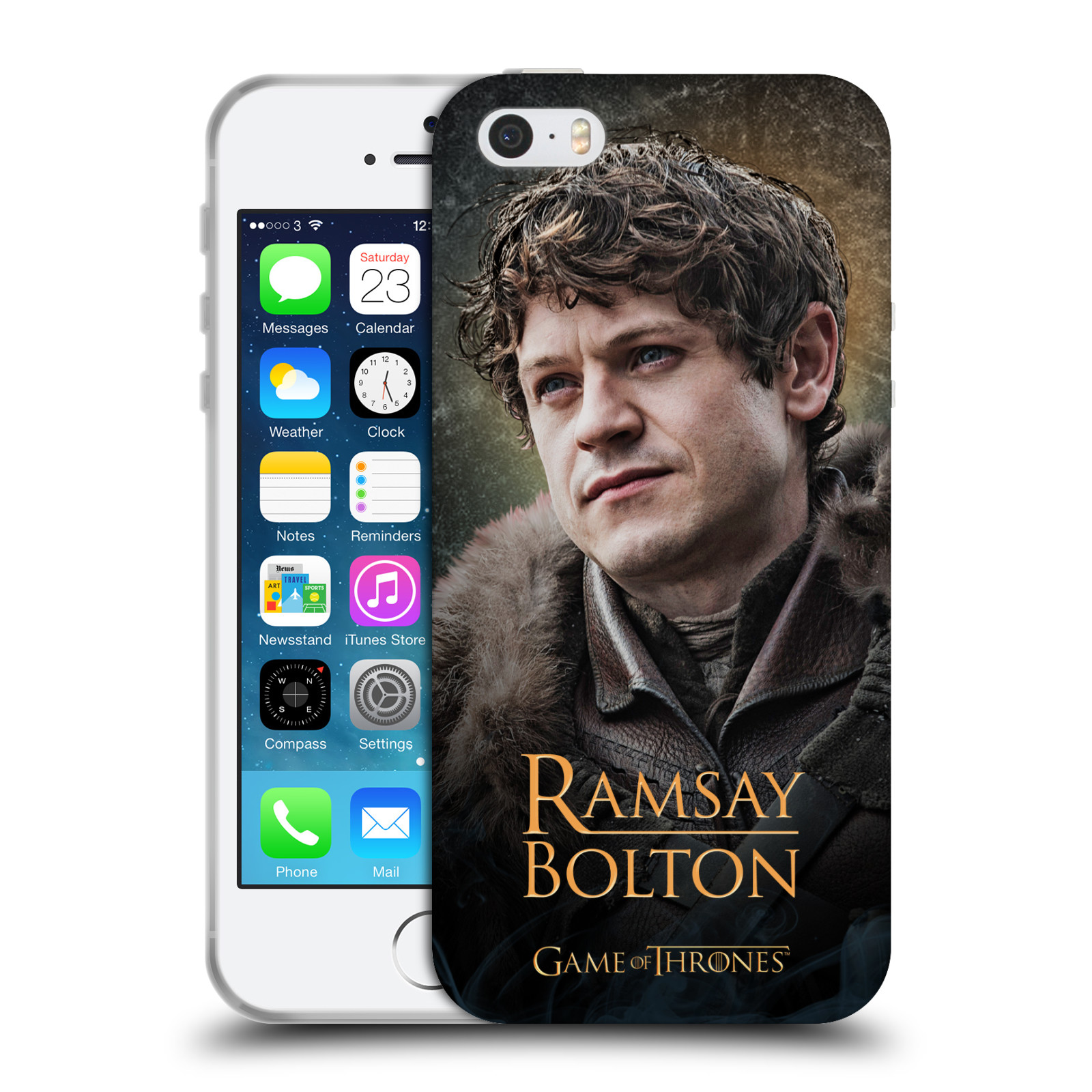 Silikonové pouzdro na mobil Apple iPhone 5, 5S, SE - Head Case - Hra o trůny - Ramsay Bolton