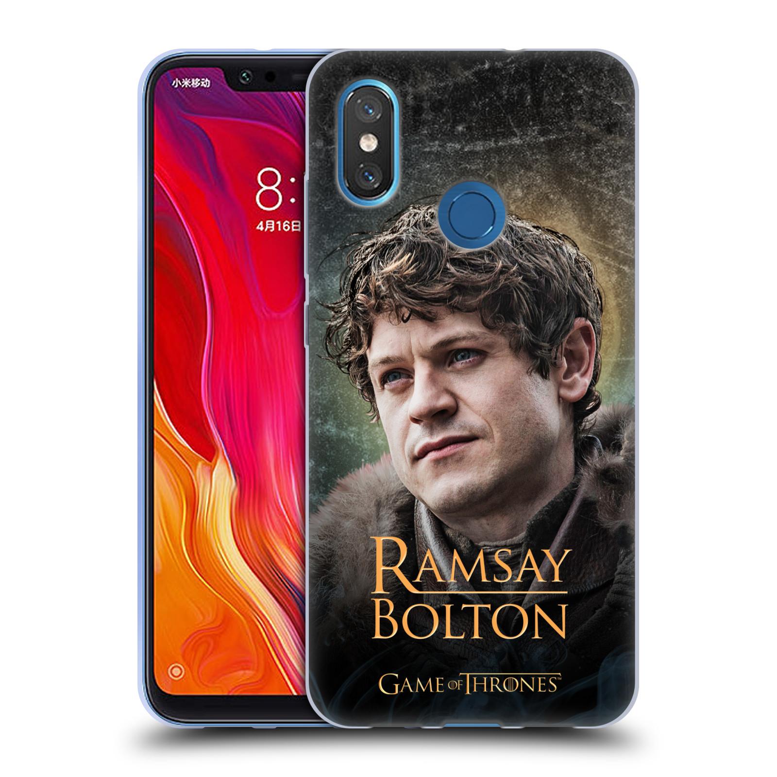 Silikonové pouzdro na mobil Xiaomi Mi8 - Head Case - Hra o trůny - Ramsay Bolton