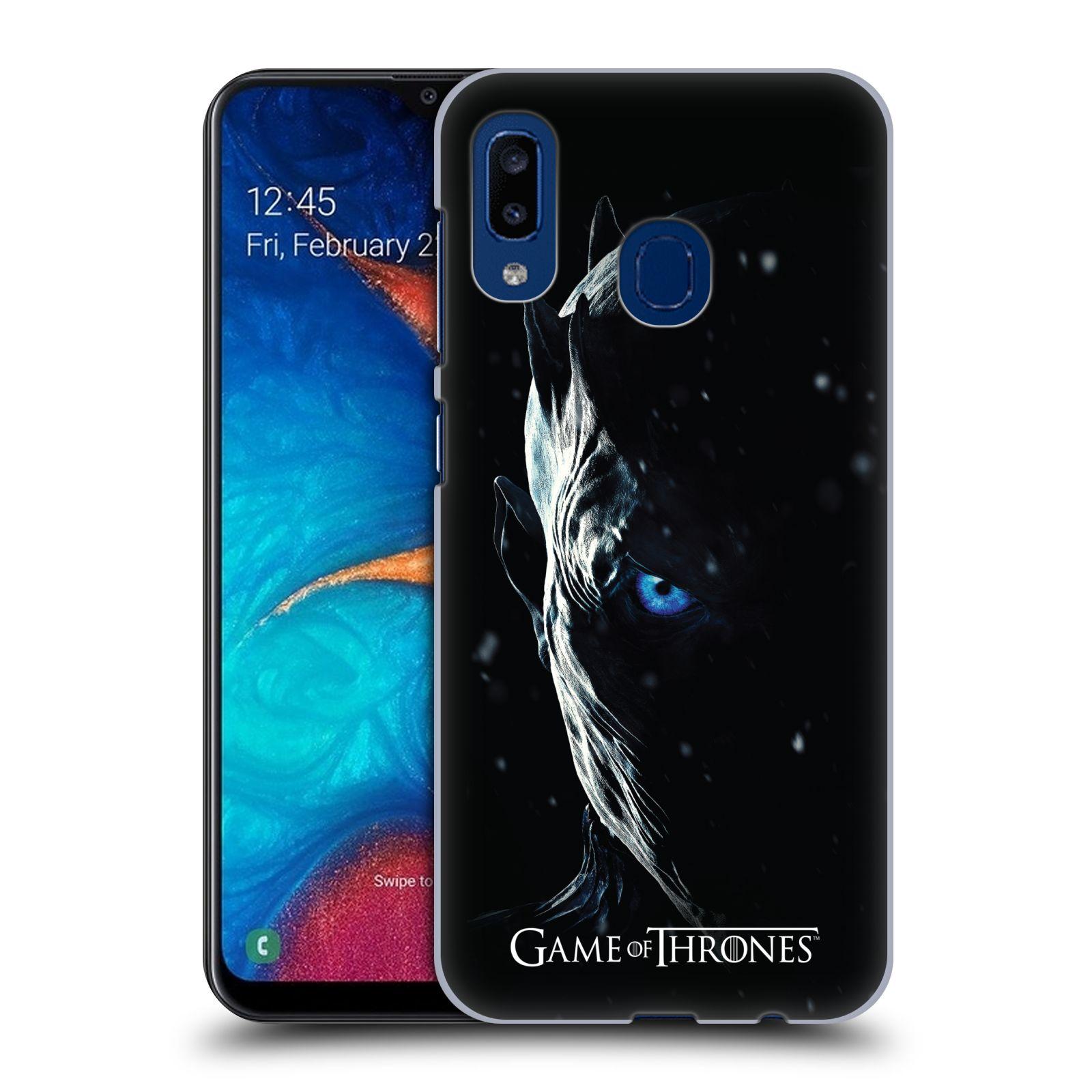 Plastové pouzdro na mobil Samsung Galaxy A20 - Head Case - Hra o trůny - Night King