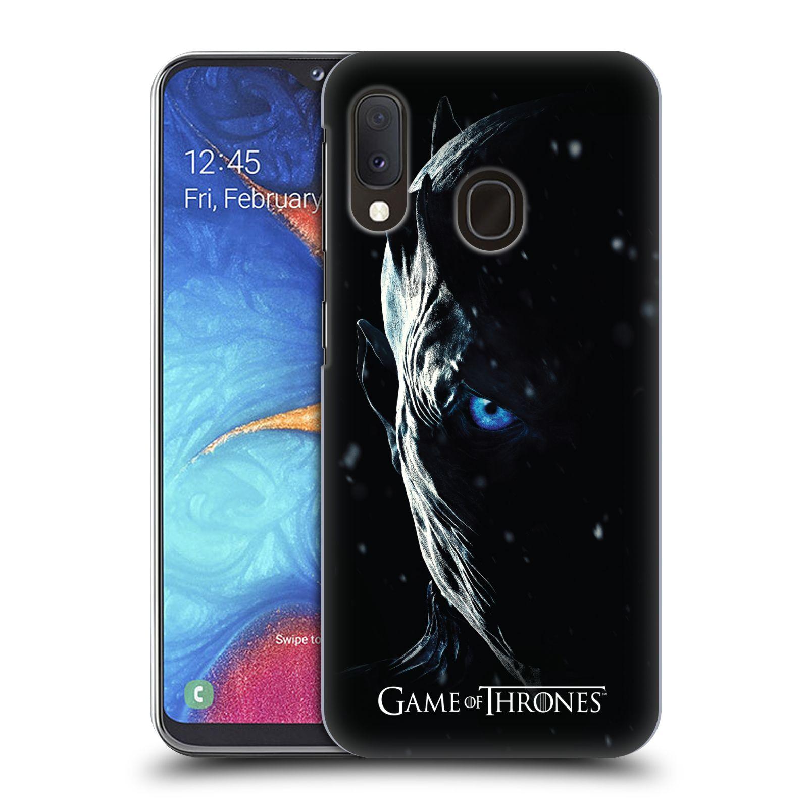 Plastové pouzdro na mobil Samsung Galaxy A20e - Head Case - Hra o trůny - Night King
