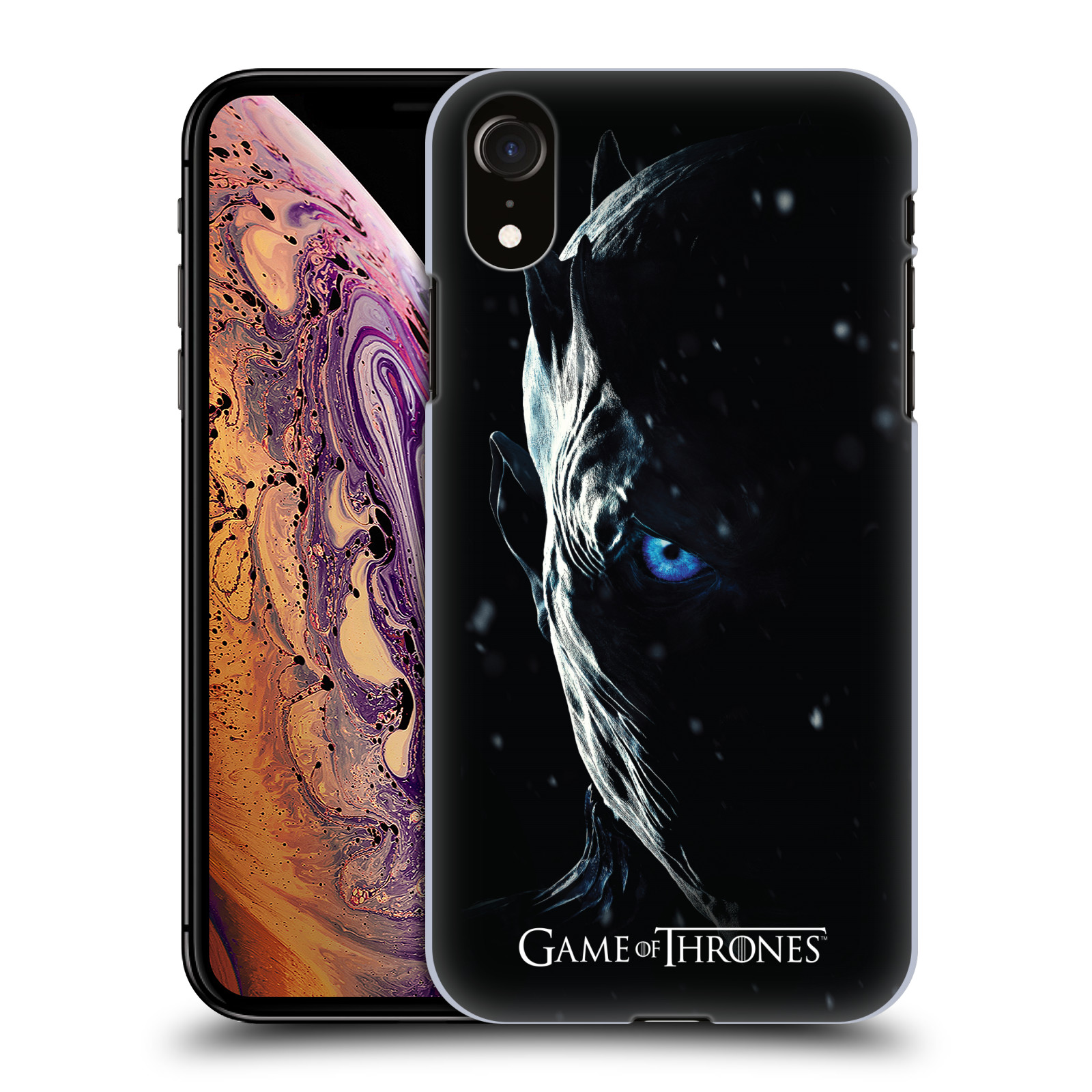 Plastové pouzdro na mobil Apple iPhone XR - Head Case - Hra o trůny - Night King