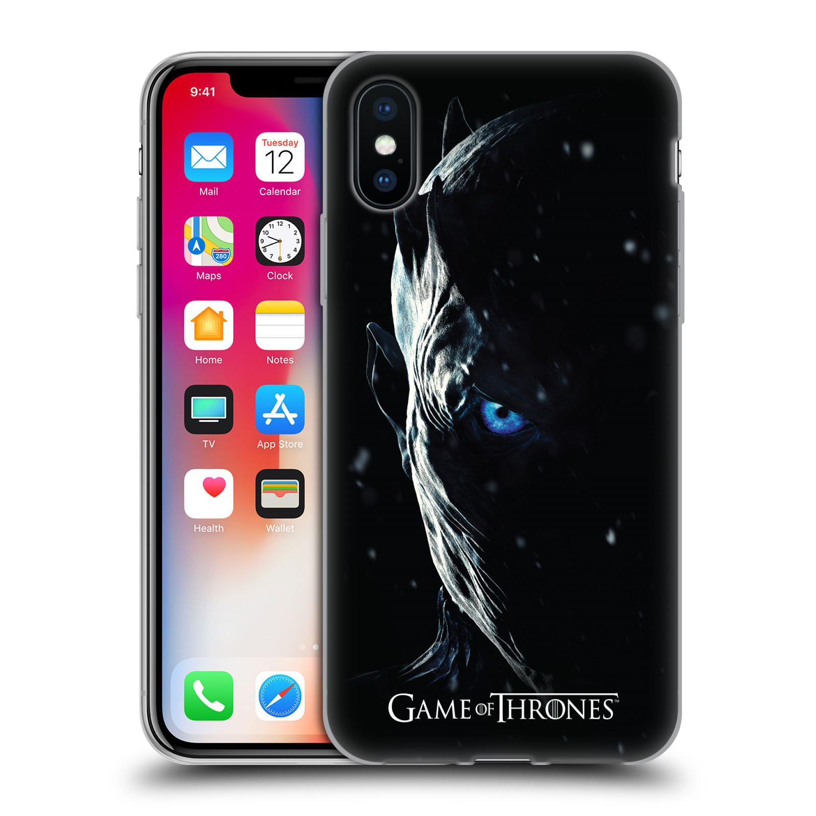Silikonové pouzdro na mobil Apple iPhone X - Head Case - Hra o trůny - Night King