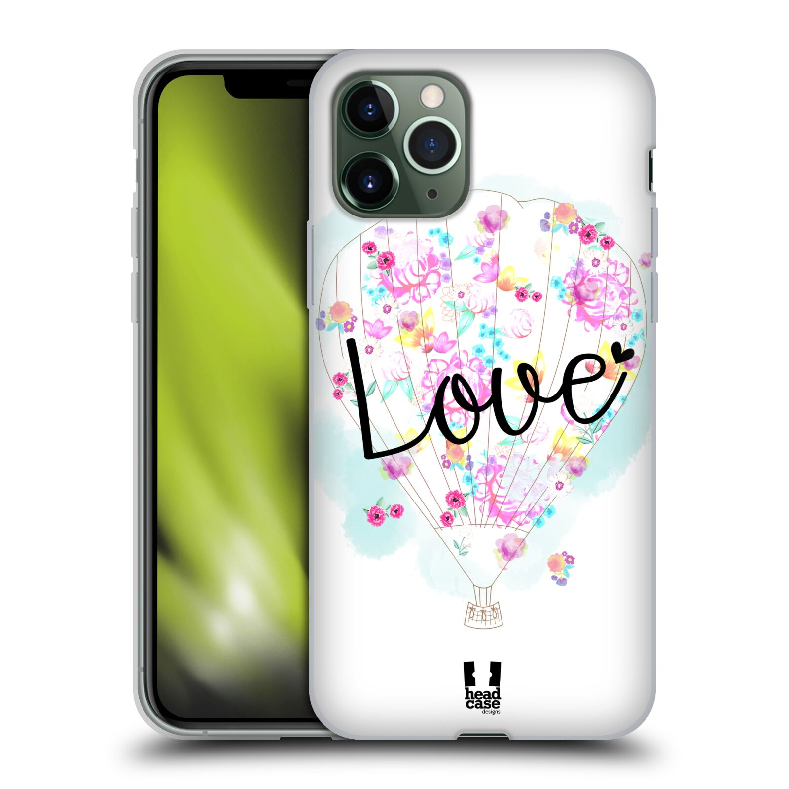 apple iphone 8 plus kryt - Silikonové pouzdro na mobil Apple iPhone 11 Pro - Head Case - Balón Love