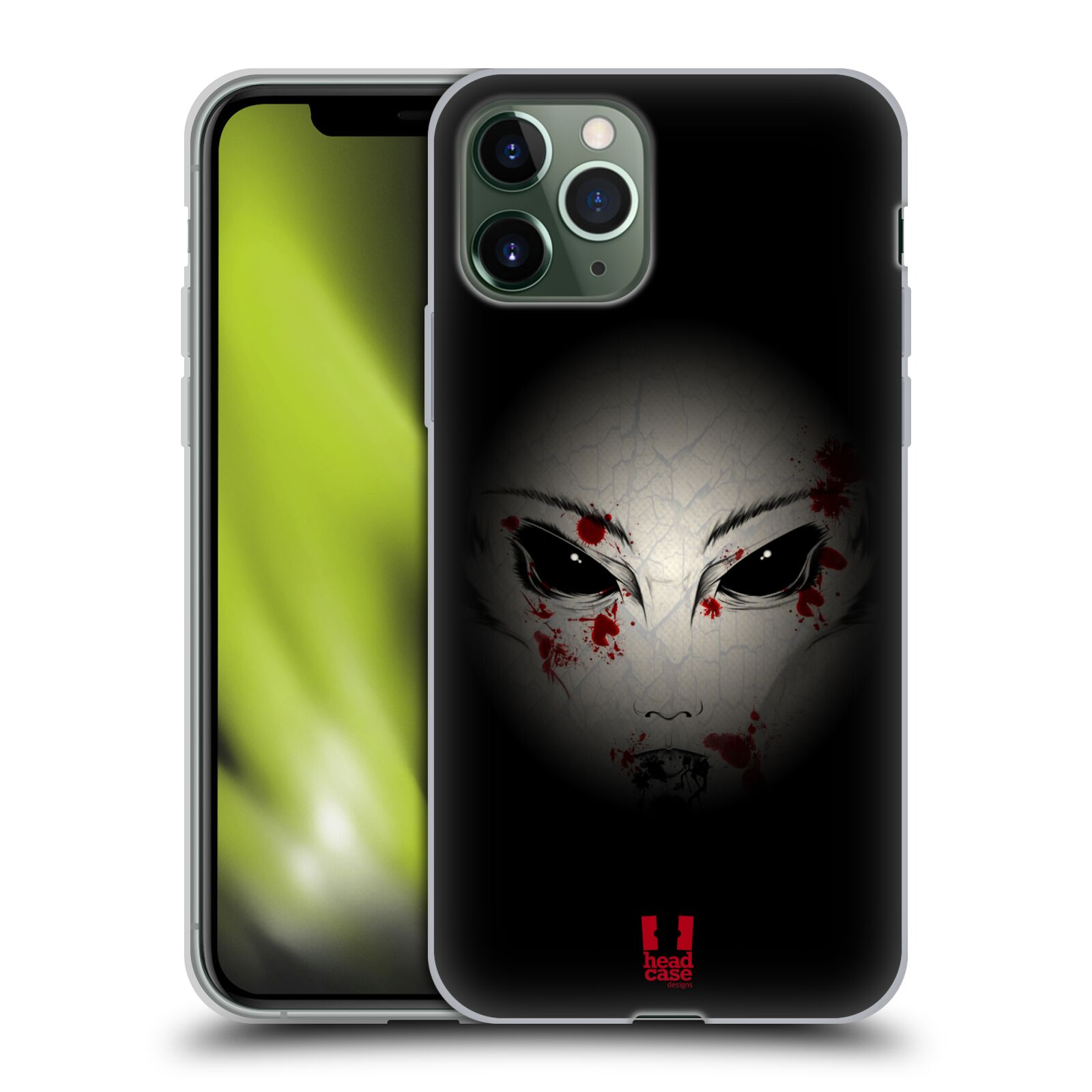 kryt na iphone 8 plus apple - Silikonové pouzdro na mobil Apple iPhone 11 Pro - Head Case - Macabre